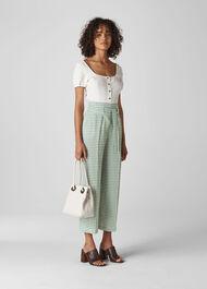 Belted Gingham Trouser Green/Multi