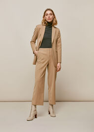 Sonia Single Breasted Jacket Camel