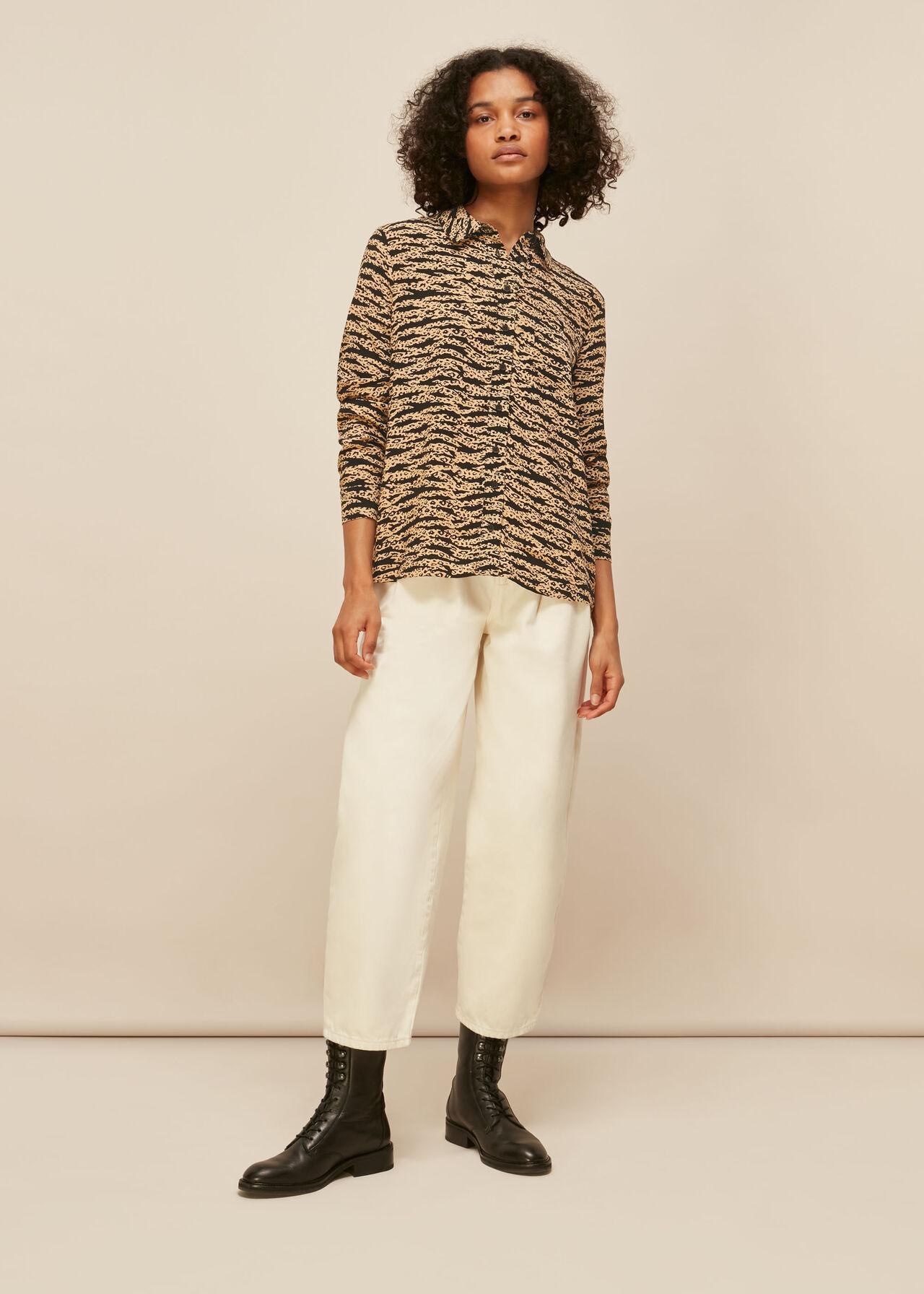 Tiger Leopard Blouse