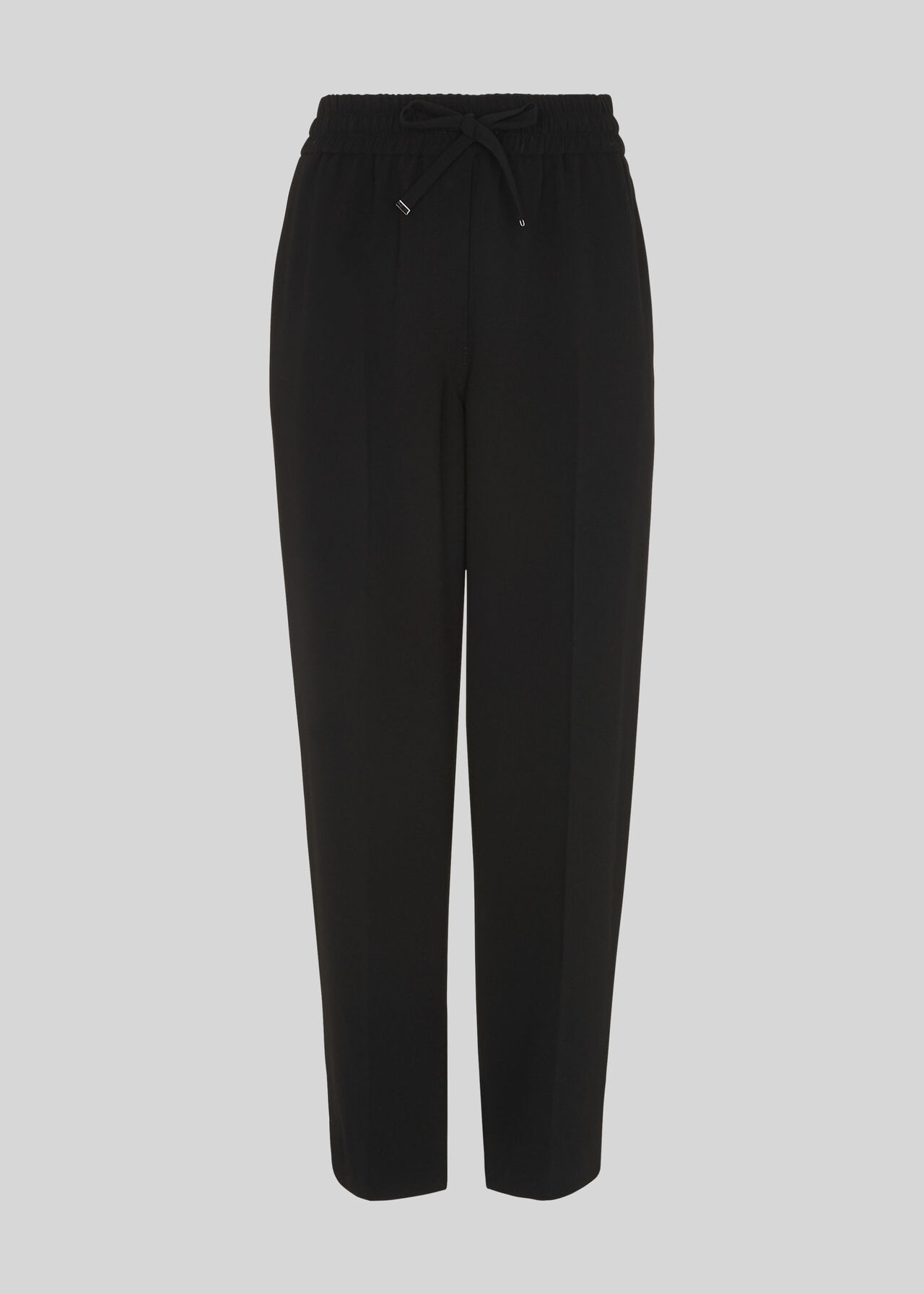 Crepe Tapered Jogger Black