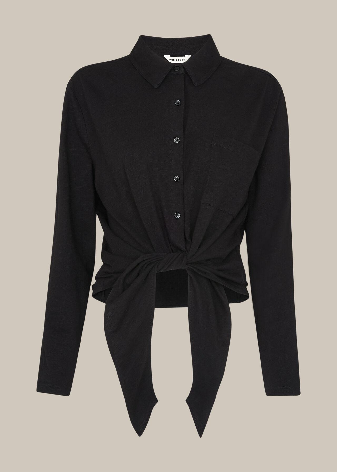 Tie Front Button Down Shirt
