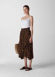 Aster Floral Wrap Skirt Black/Multi