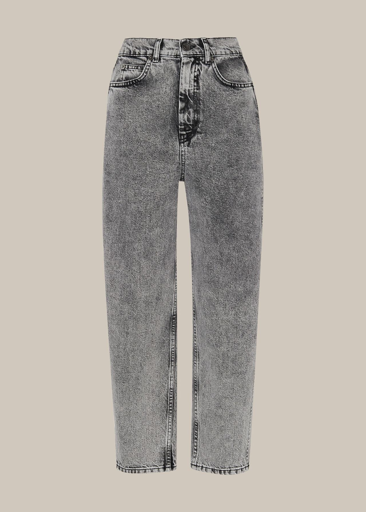 Acid Wash Barrel Leg Jean