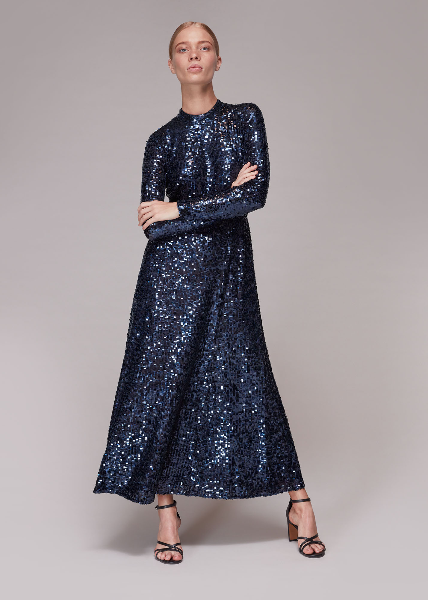 Whistles Women Minimal Sequin Midi Dress