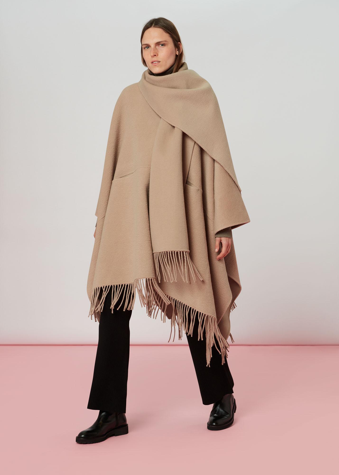 Whistles Women Wrap Fringe Coat