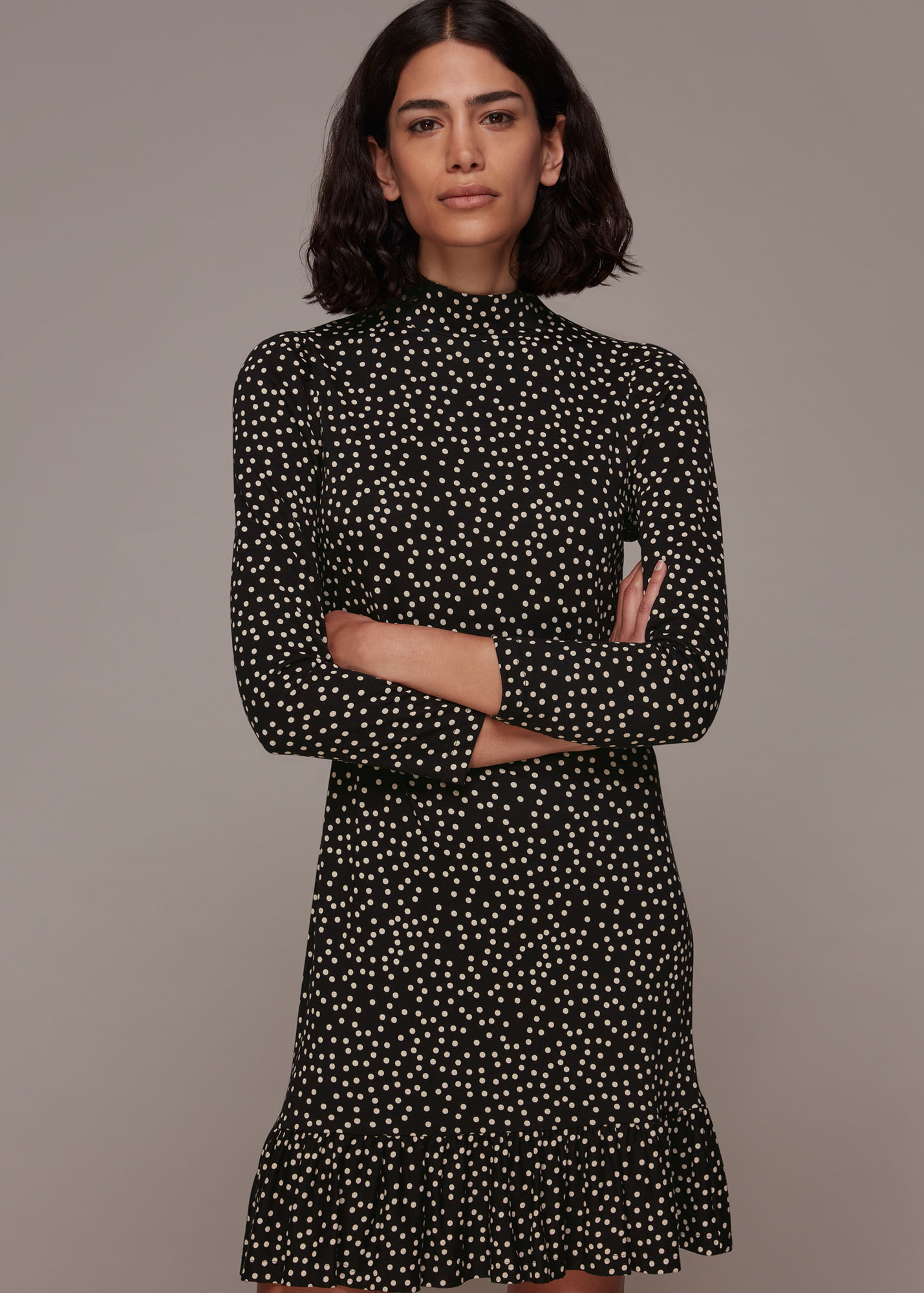 Whistles Women Irregular Spot Jersey Dress