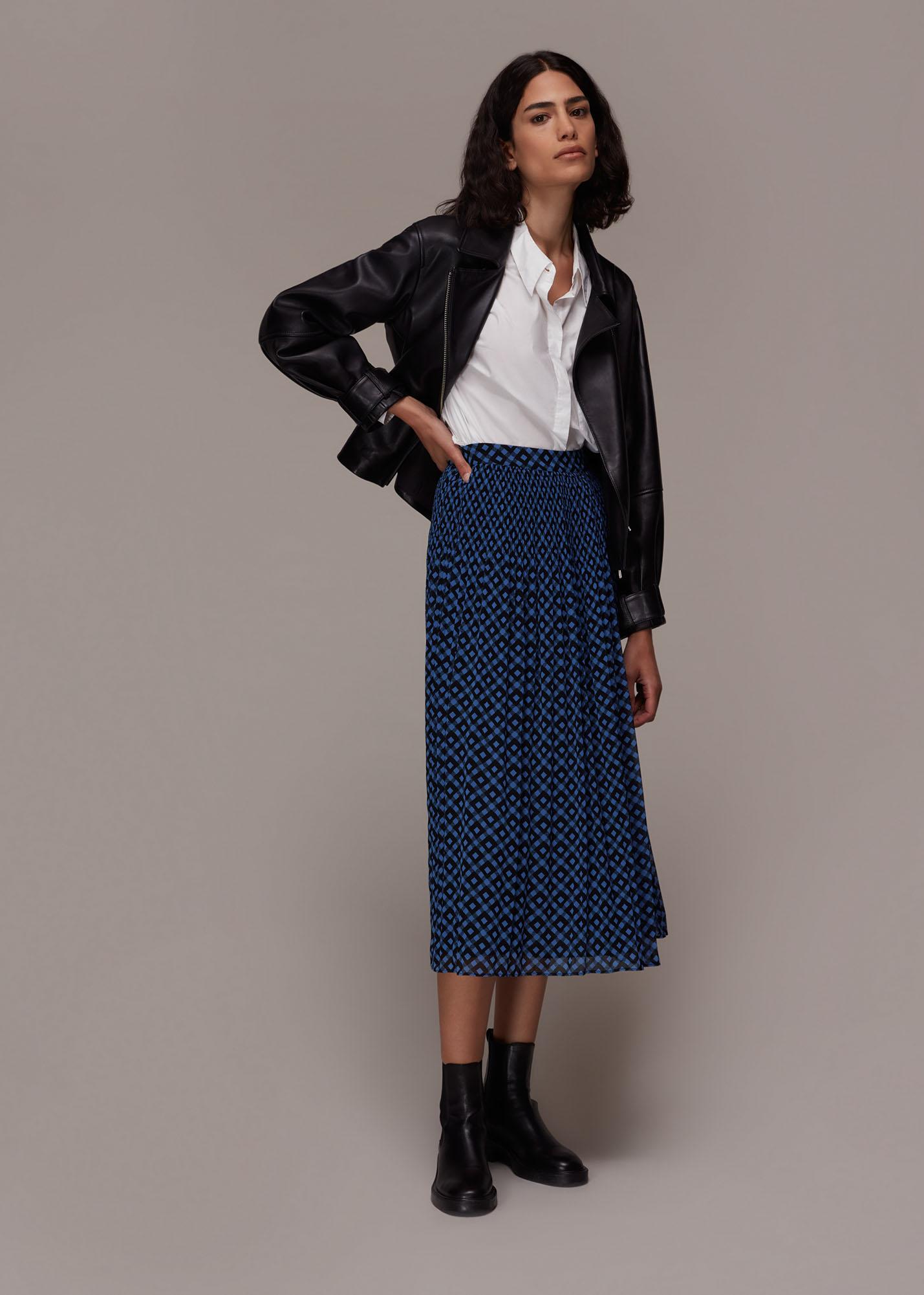 Whistles Women Gabriella Gingham Print Skirt