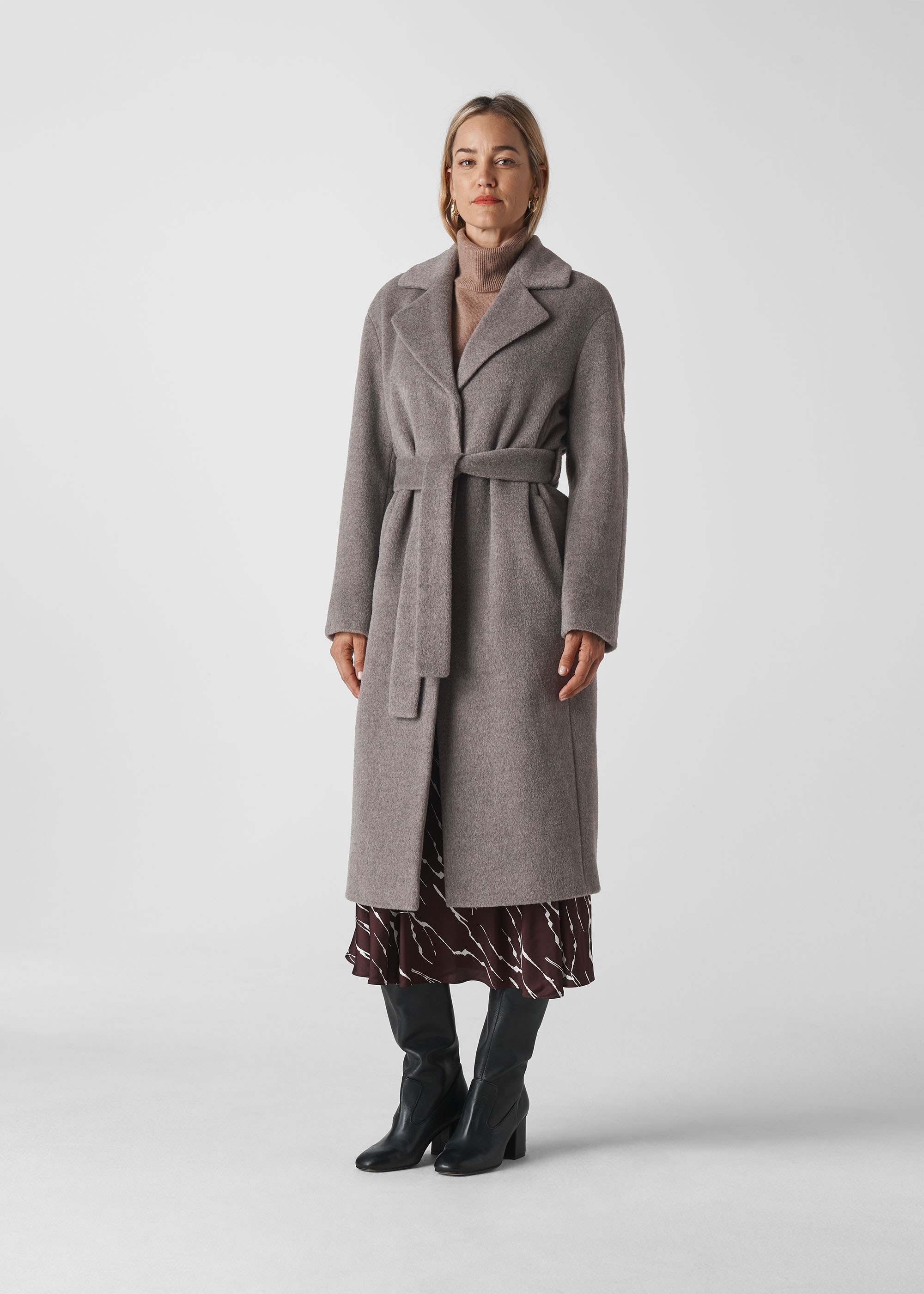 Whistles Women Darcey Drawn Belted Wrap Coat