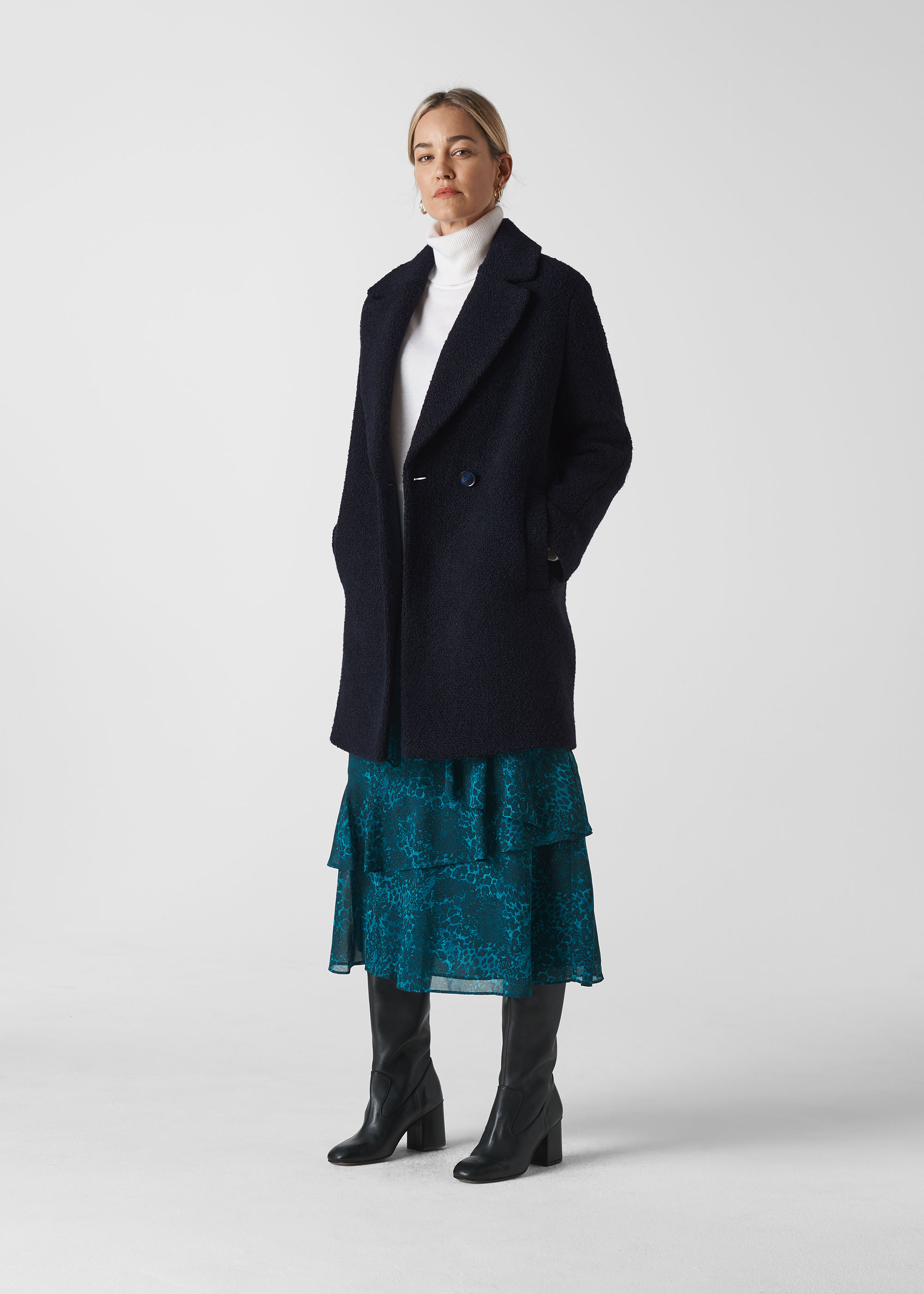 Whistles Women Boucle Double Breasted Coat