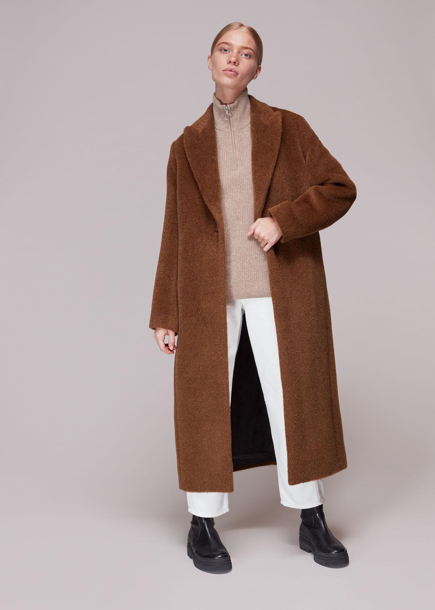 Whistles Women Emma Alpaca Mix Luxe Coat