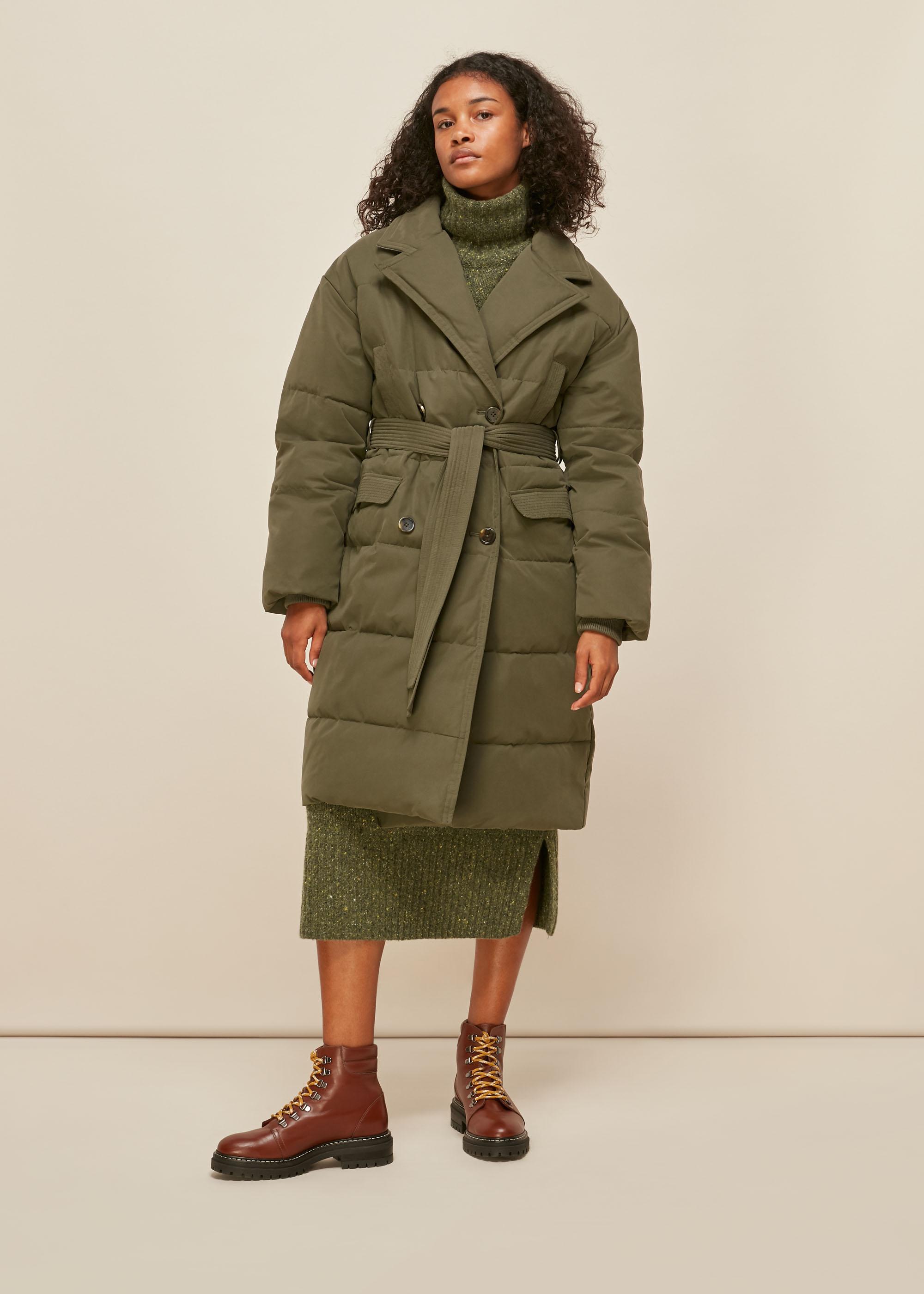 Whistles Women Trench Puffer Coat