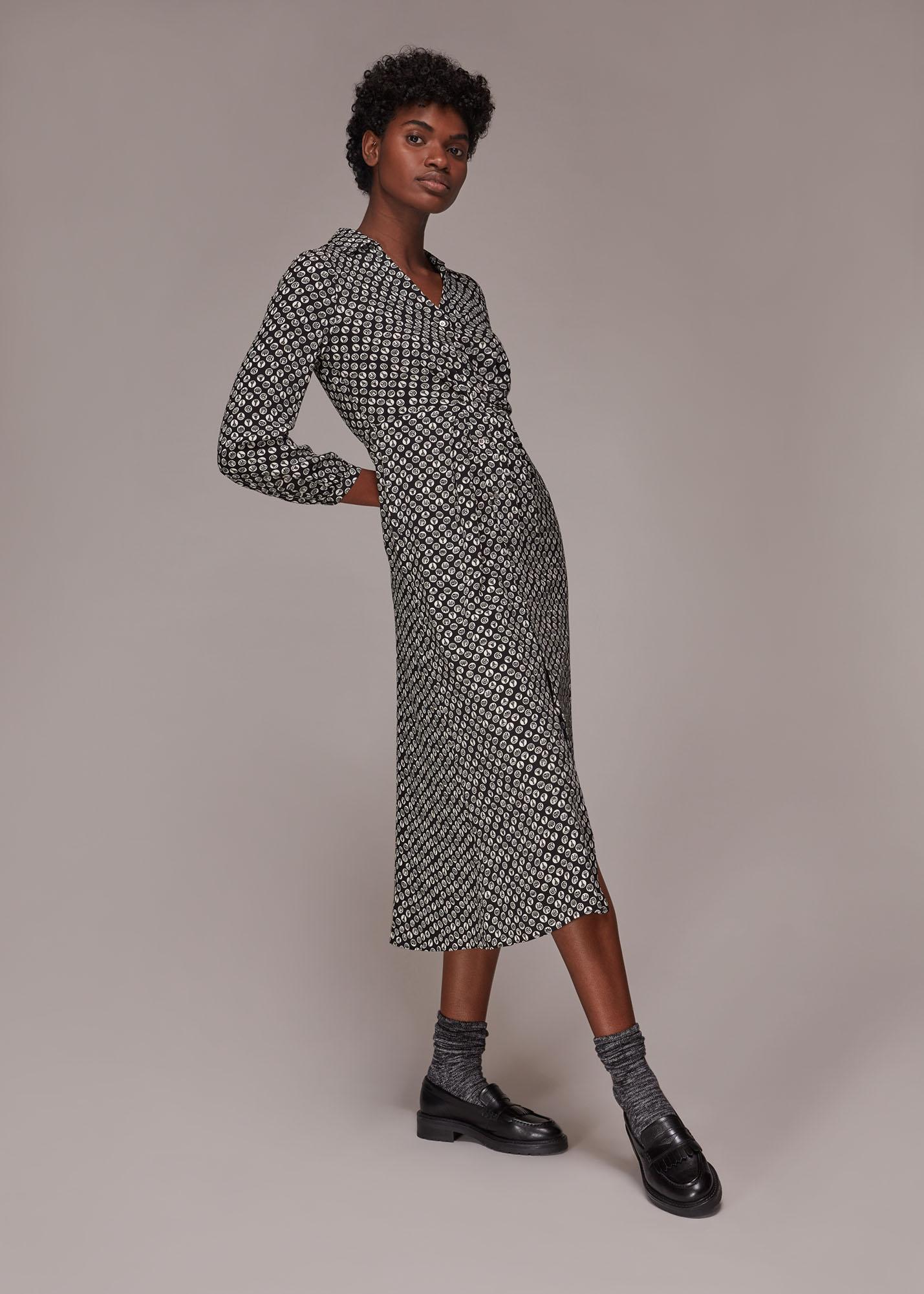 Whistles Women Landmark Print Midi Dress