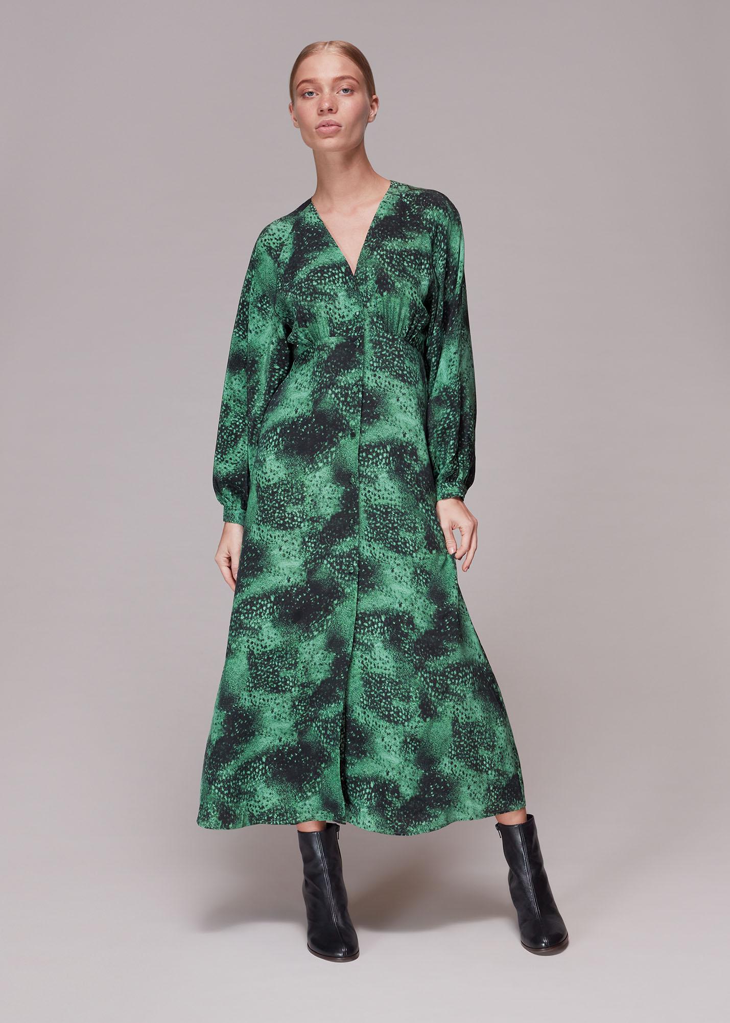 Whistles Women Photographic Animal Silk Dress