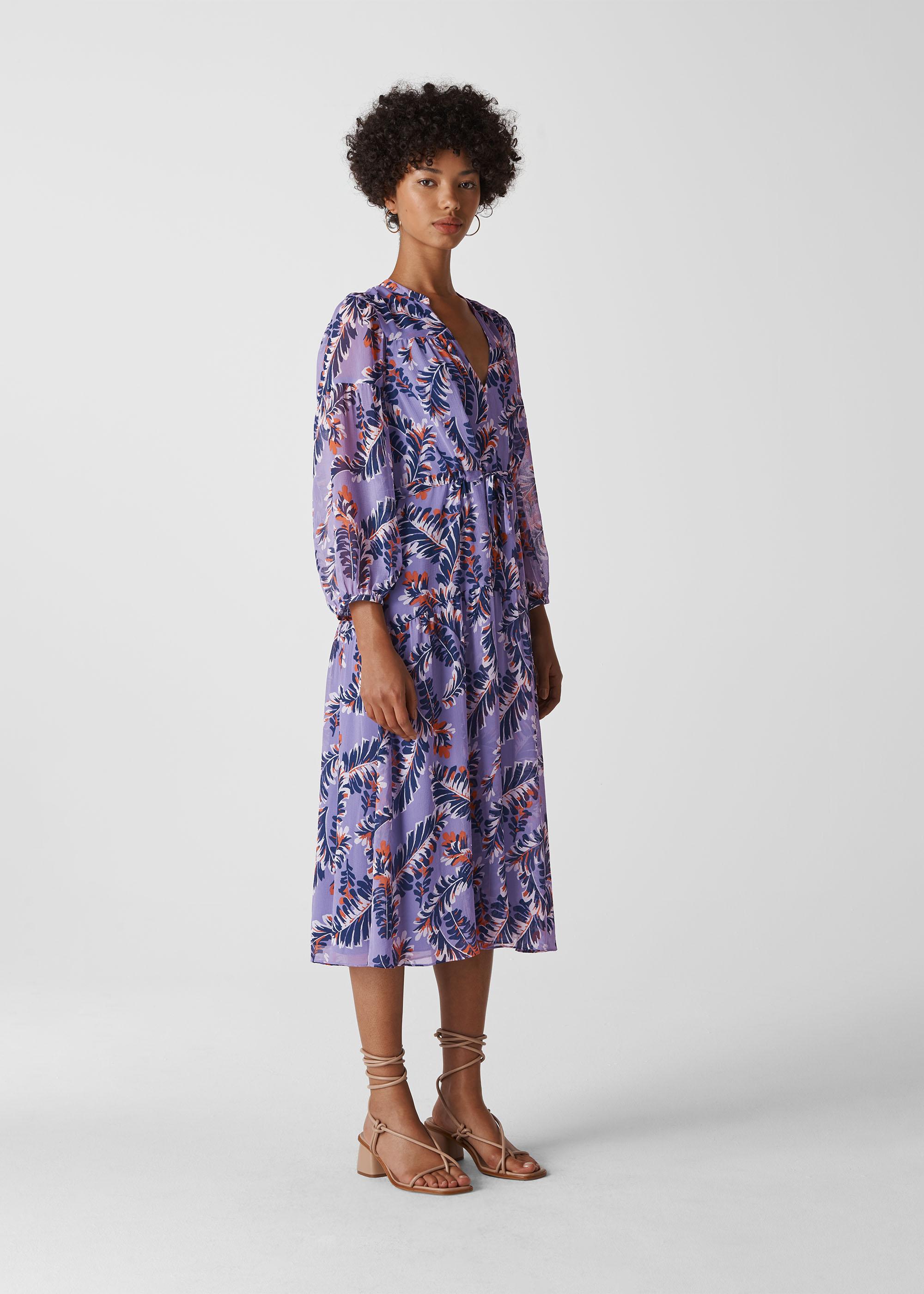 Whistles Women Josephine Print Midi Dress