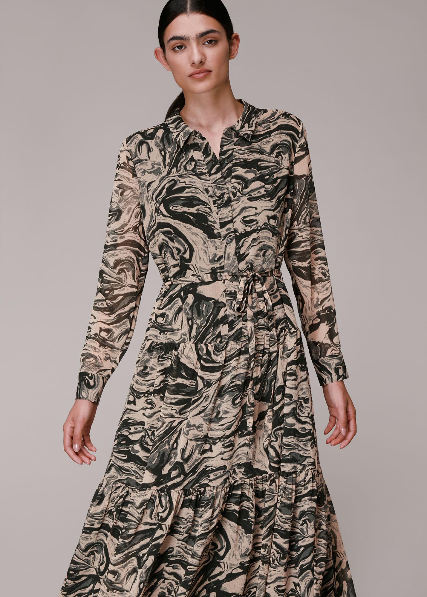 Whistles Women Marble Print Shirt Dress