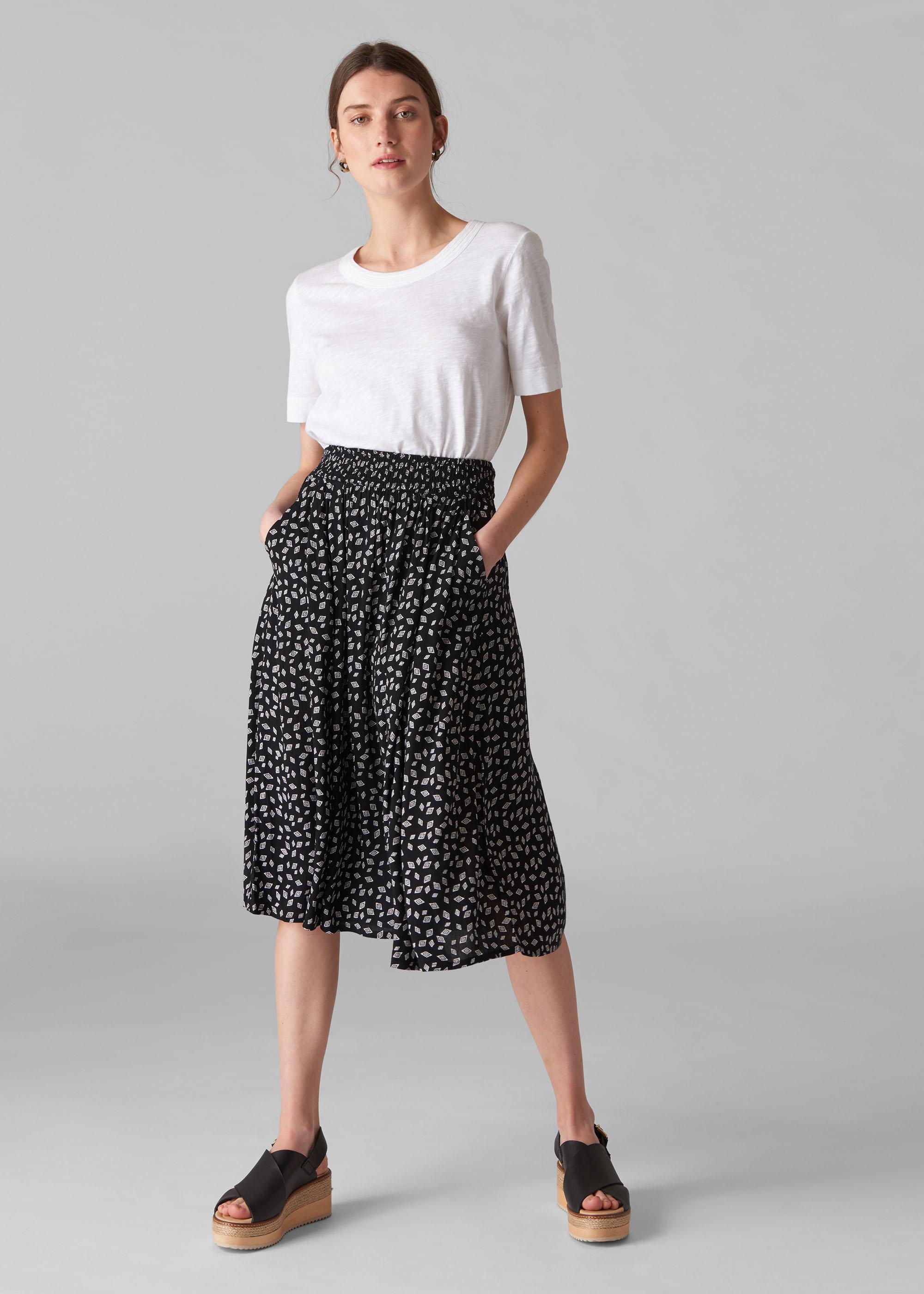 Whistles Women Gobi Print Textured Skirt