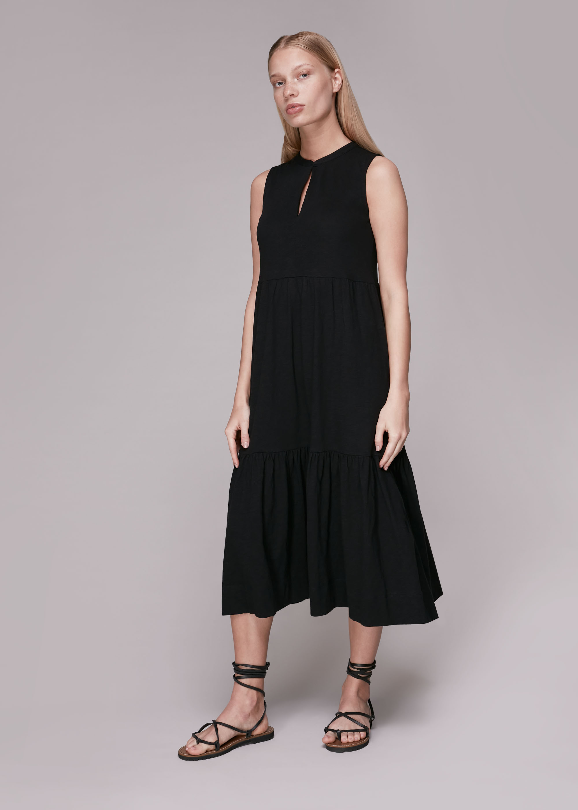 Whistles Women Tiered Jersey Dress