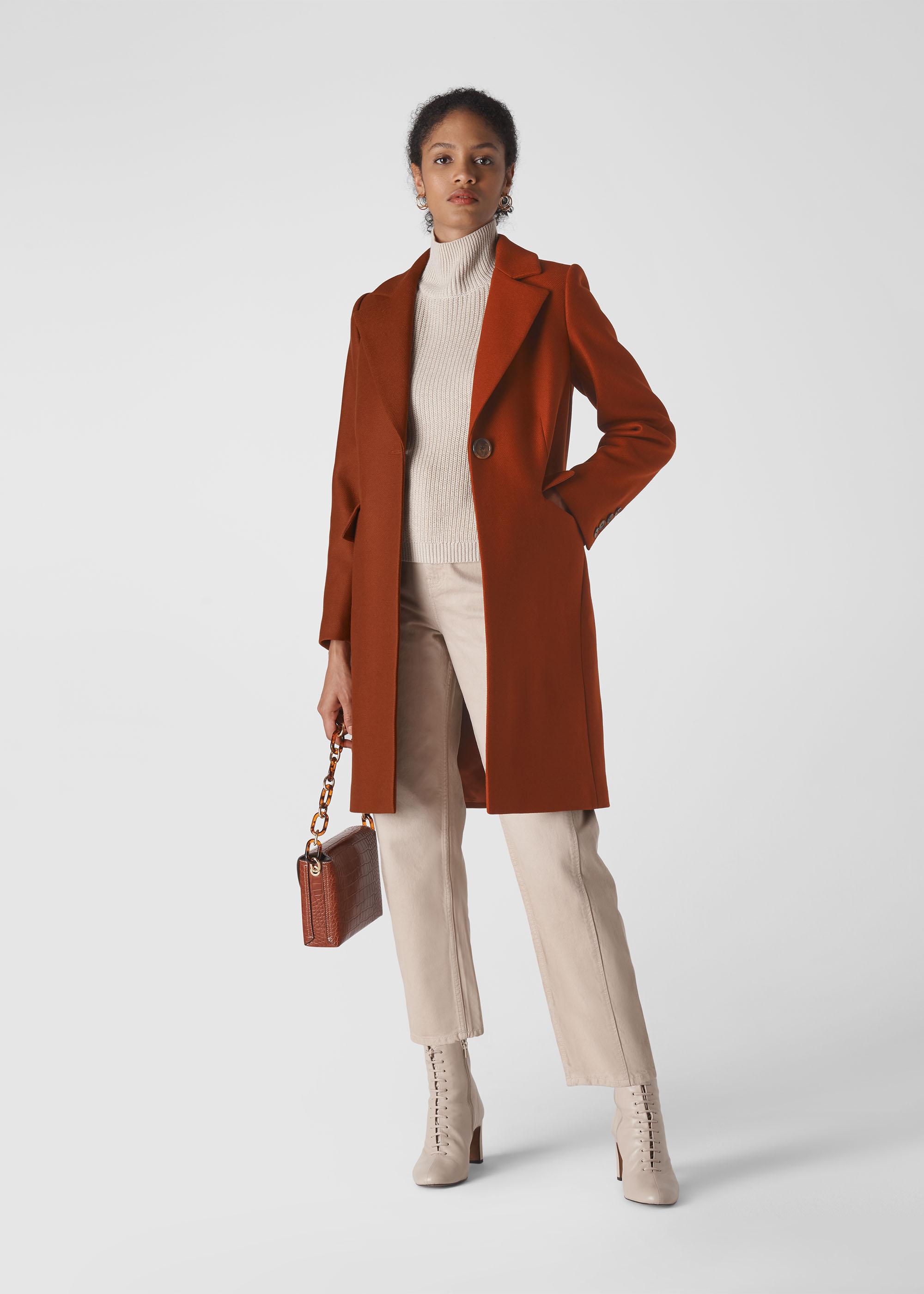 Whistles Women Clara Single Breasted Coat