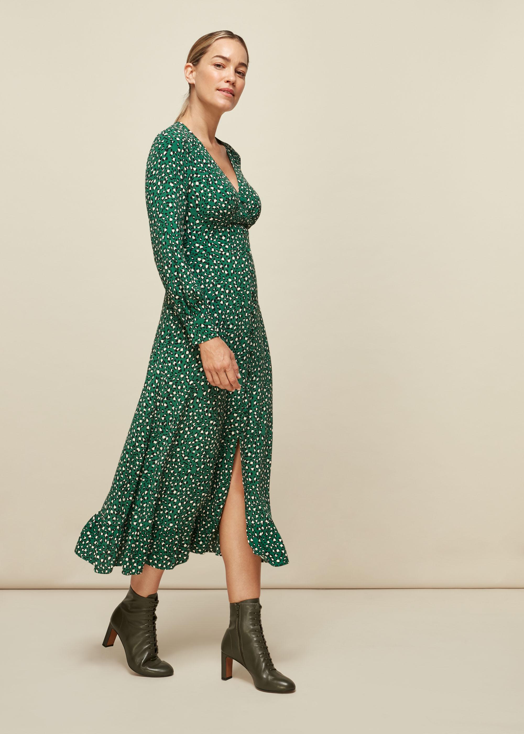 Whistles Women Wild Leopard Print Midi Dress