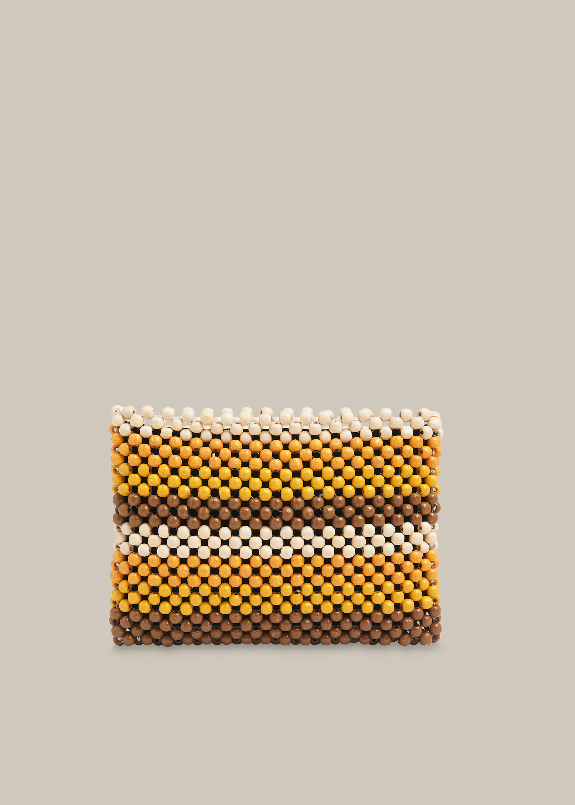 Whistles Women Safah Striped Beaded Clutch