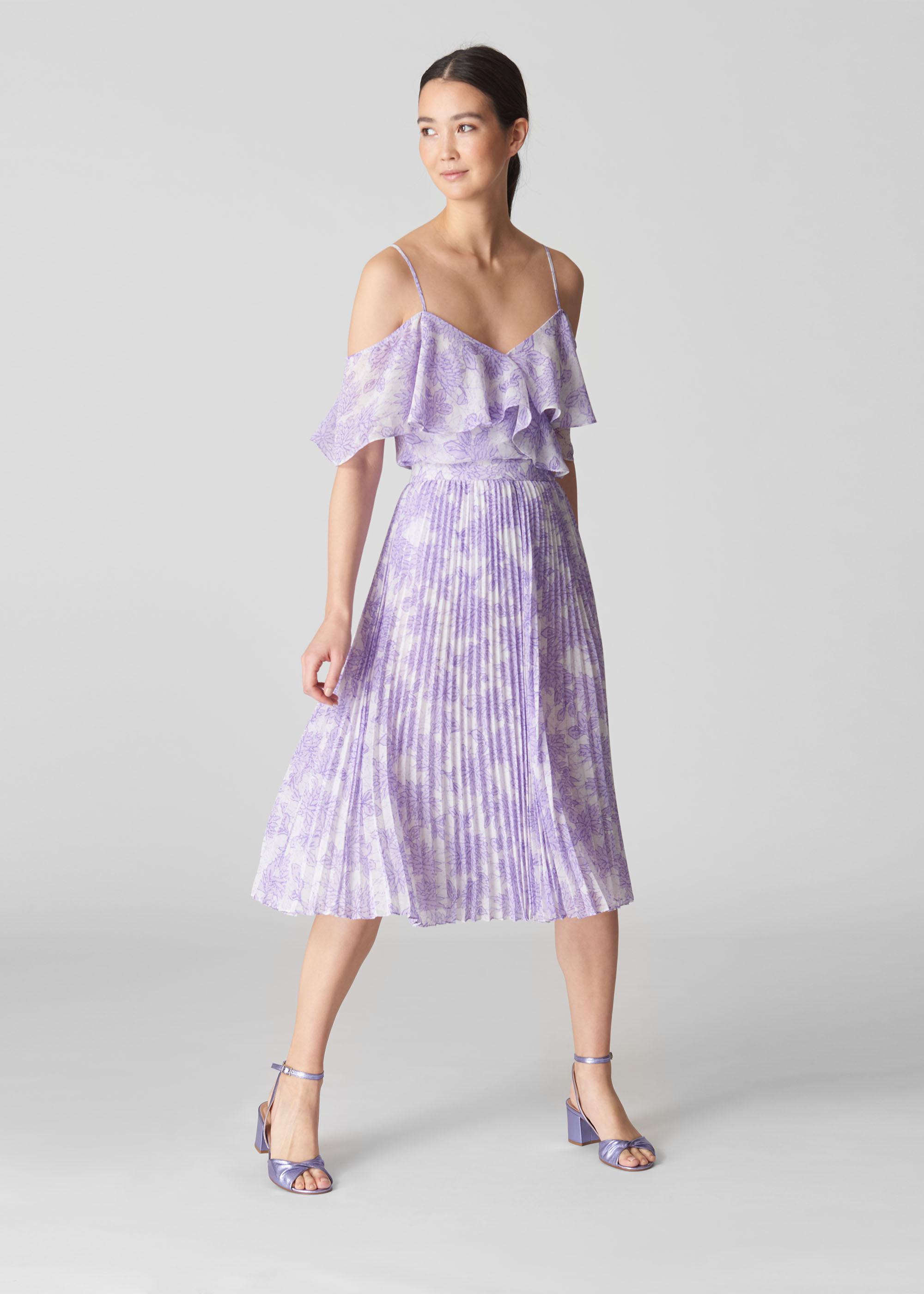 Whistles Women Batik Lily Print Pleated Skirt