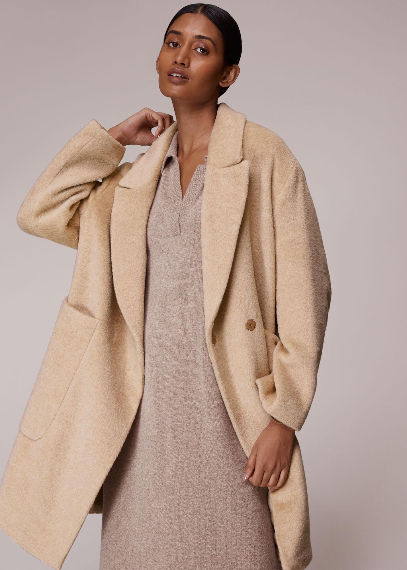 Whistles Women Lola Wool Mix Cocoon Coat