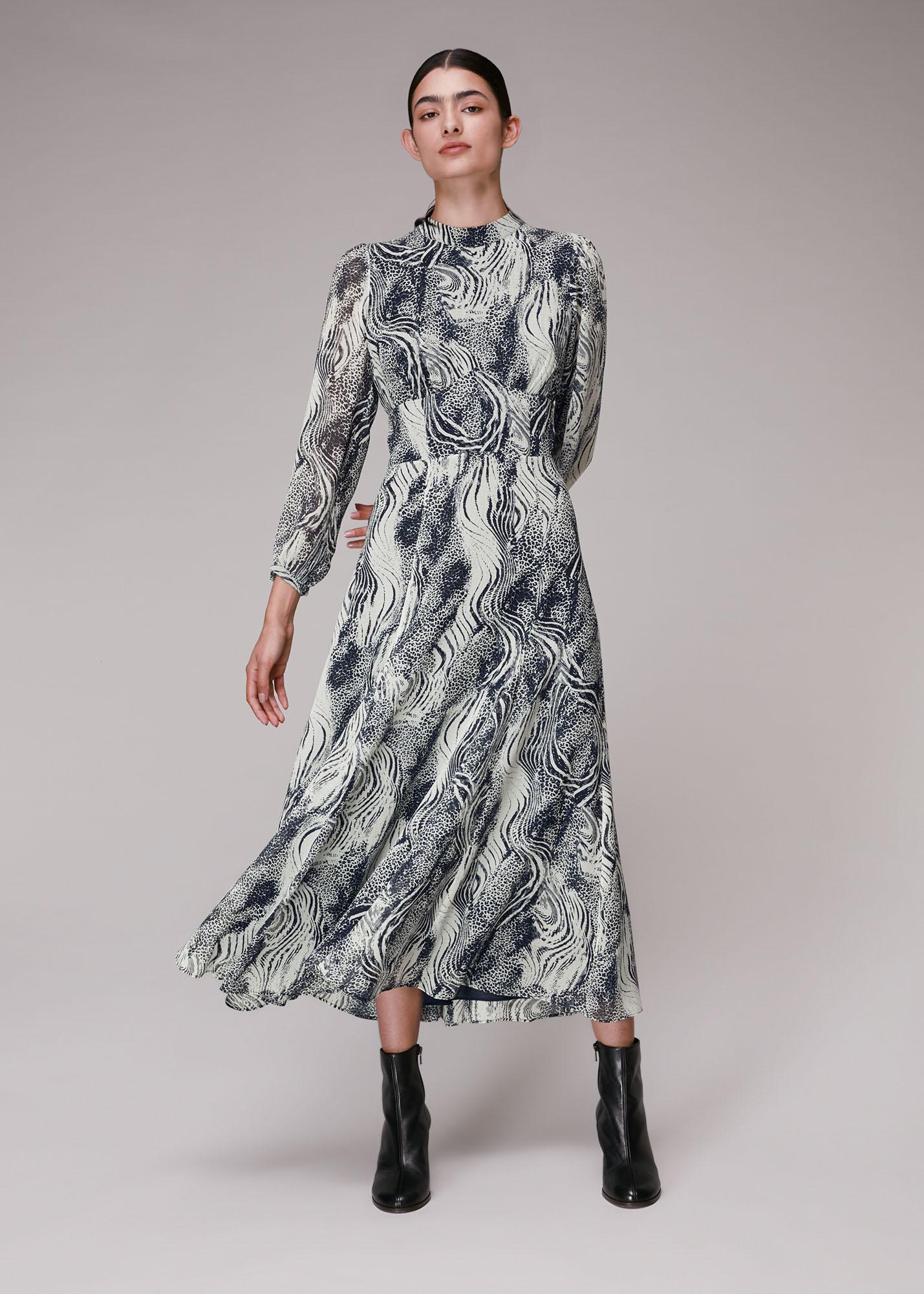 Whistles Women Flowing Tiger Joan Dress