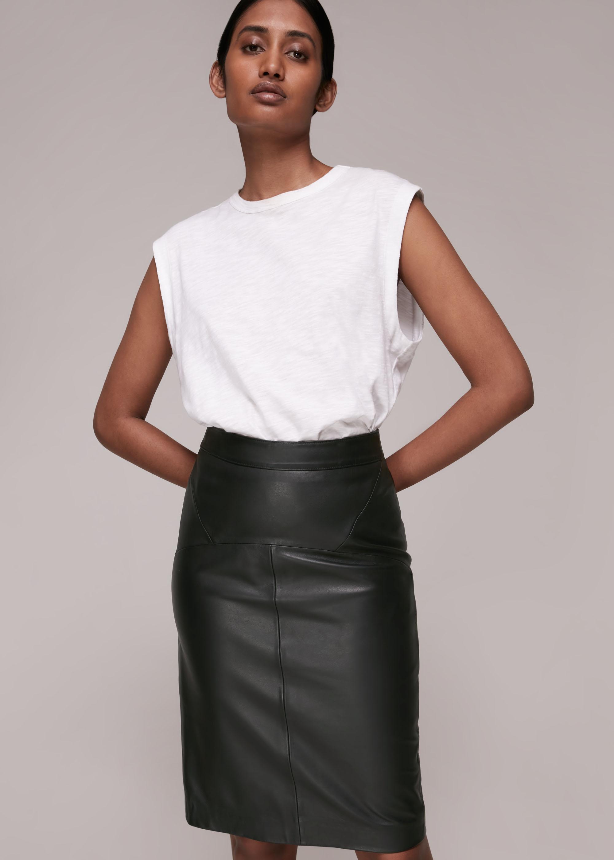 Whistles Women Kel Leather Pencil Skirt