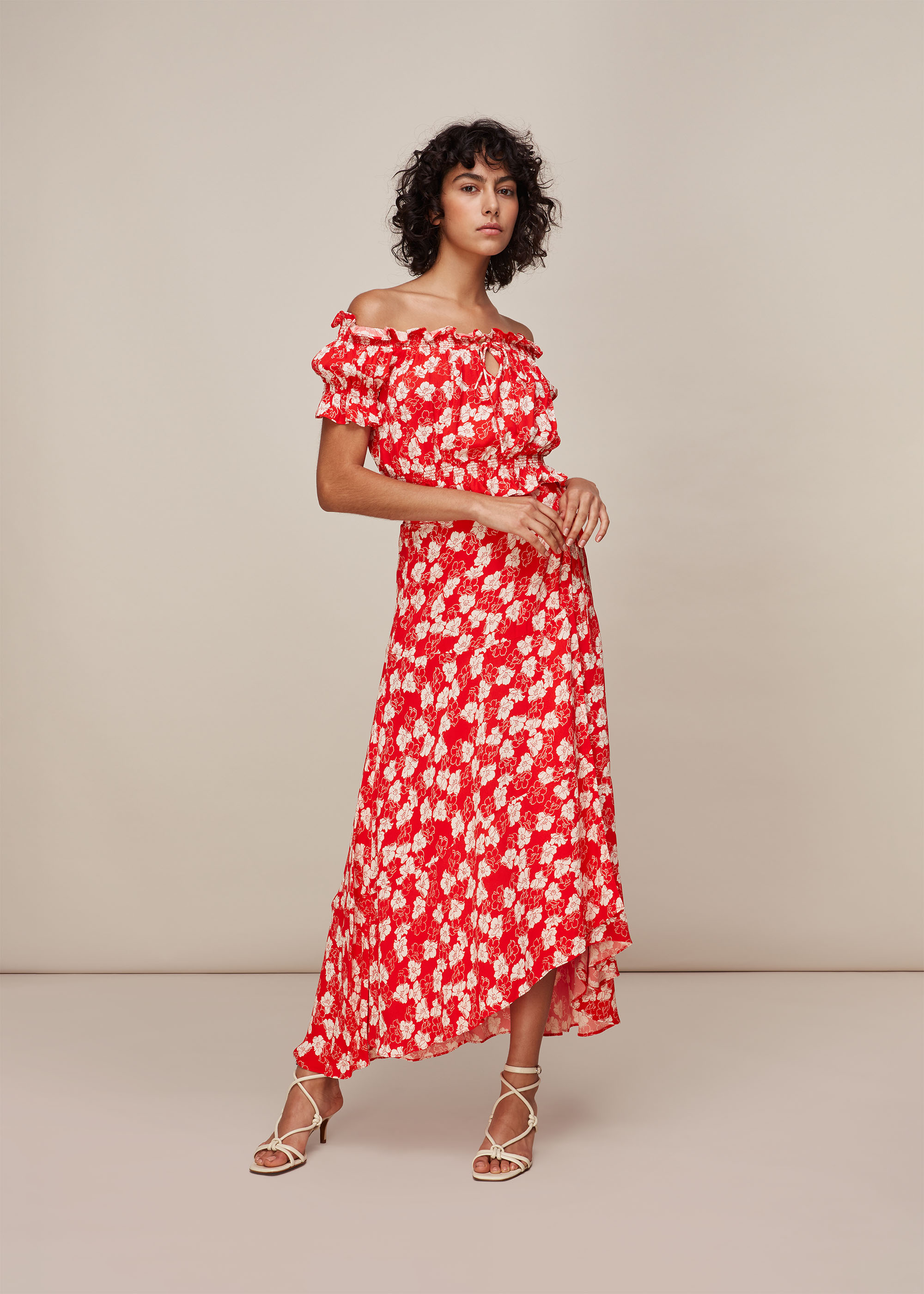 Whistles Women Floral Garland Wrap Skirt