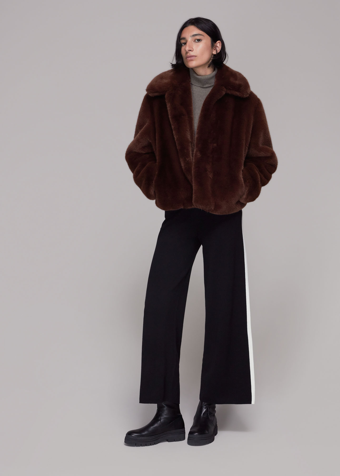 Whistles Women Drew Faux Fur Coat