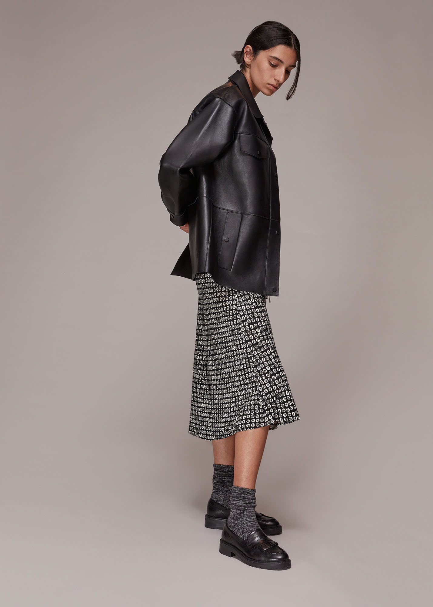 Whistles Women Landmark Print Bias Cut Skirt