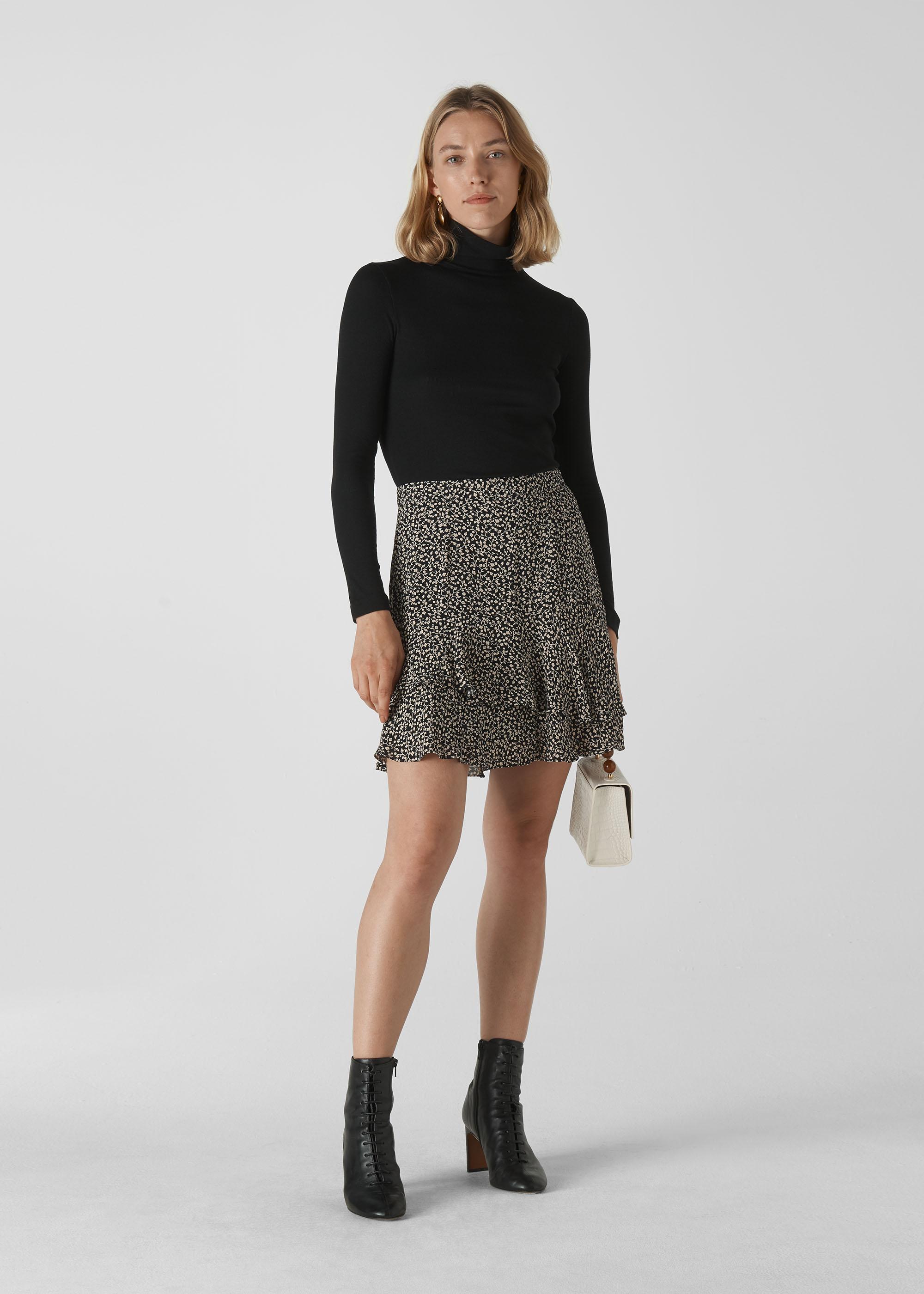 Whistles Women Autumn Floral Print Skirt