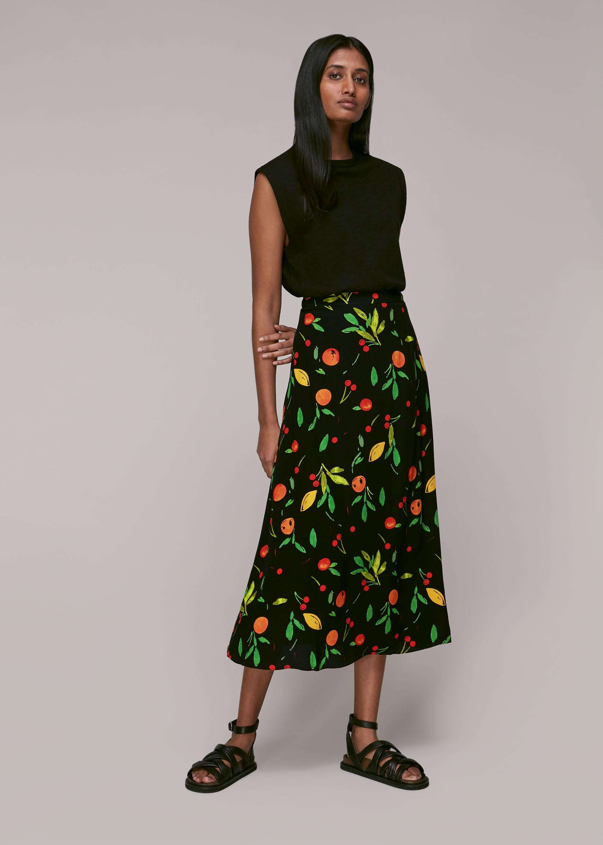 Whistles Women Fruit Print Skirt