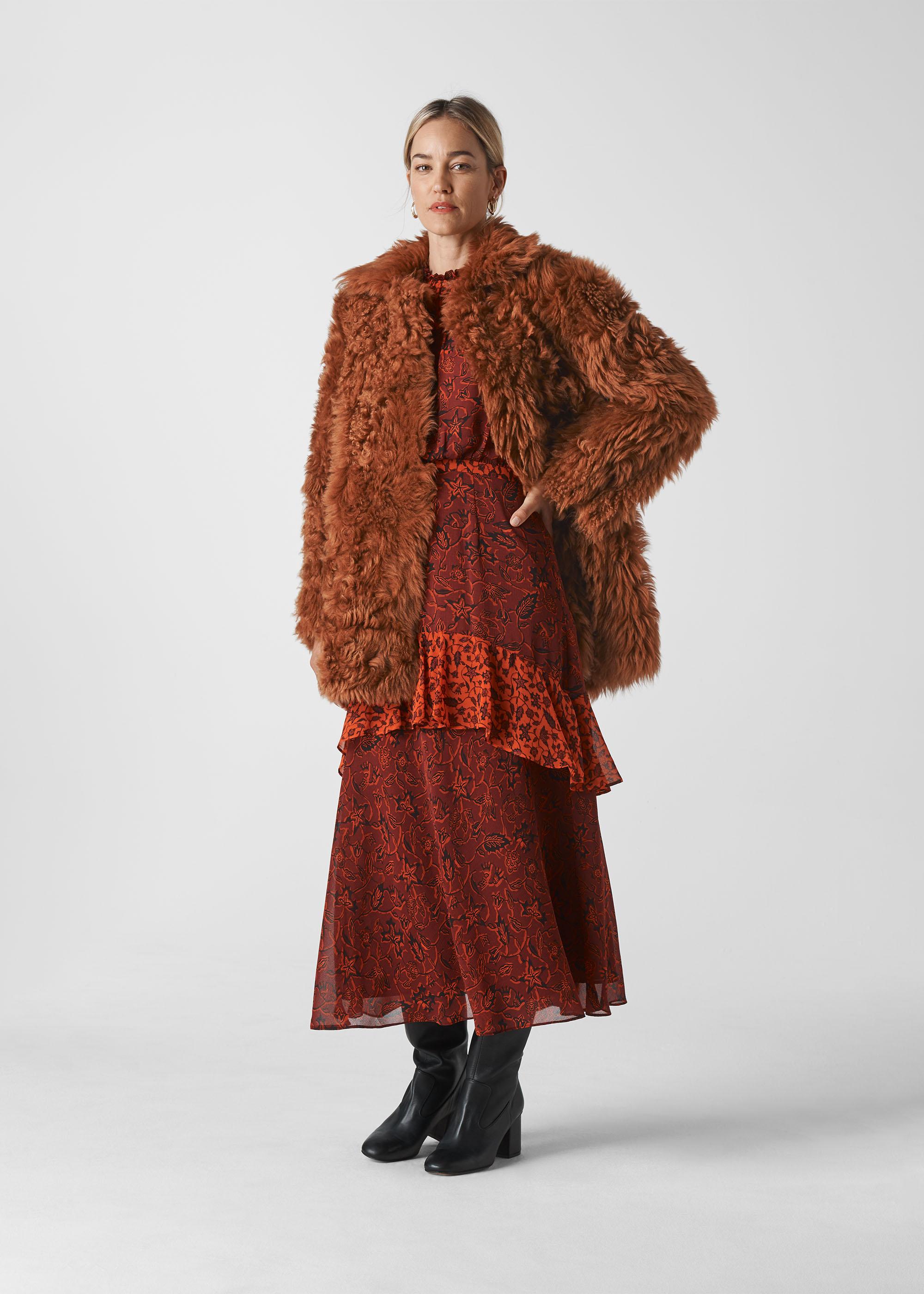 Whistles Women Eliza Short Sheepskin Coat