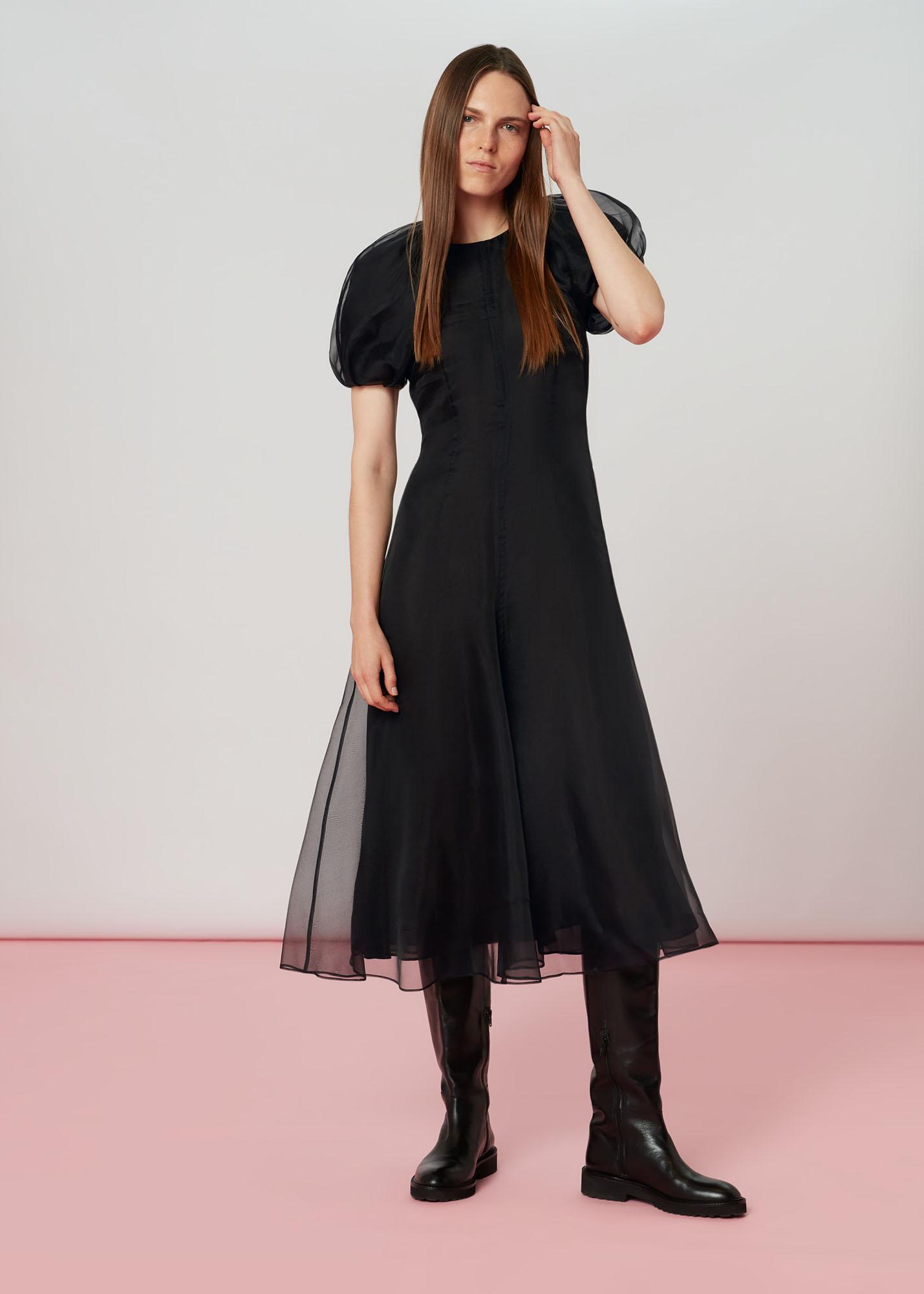 Whistles Women Organza Puff Sleeve Dress