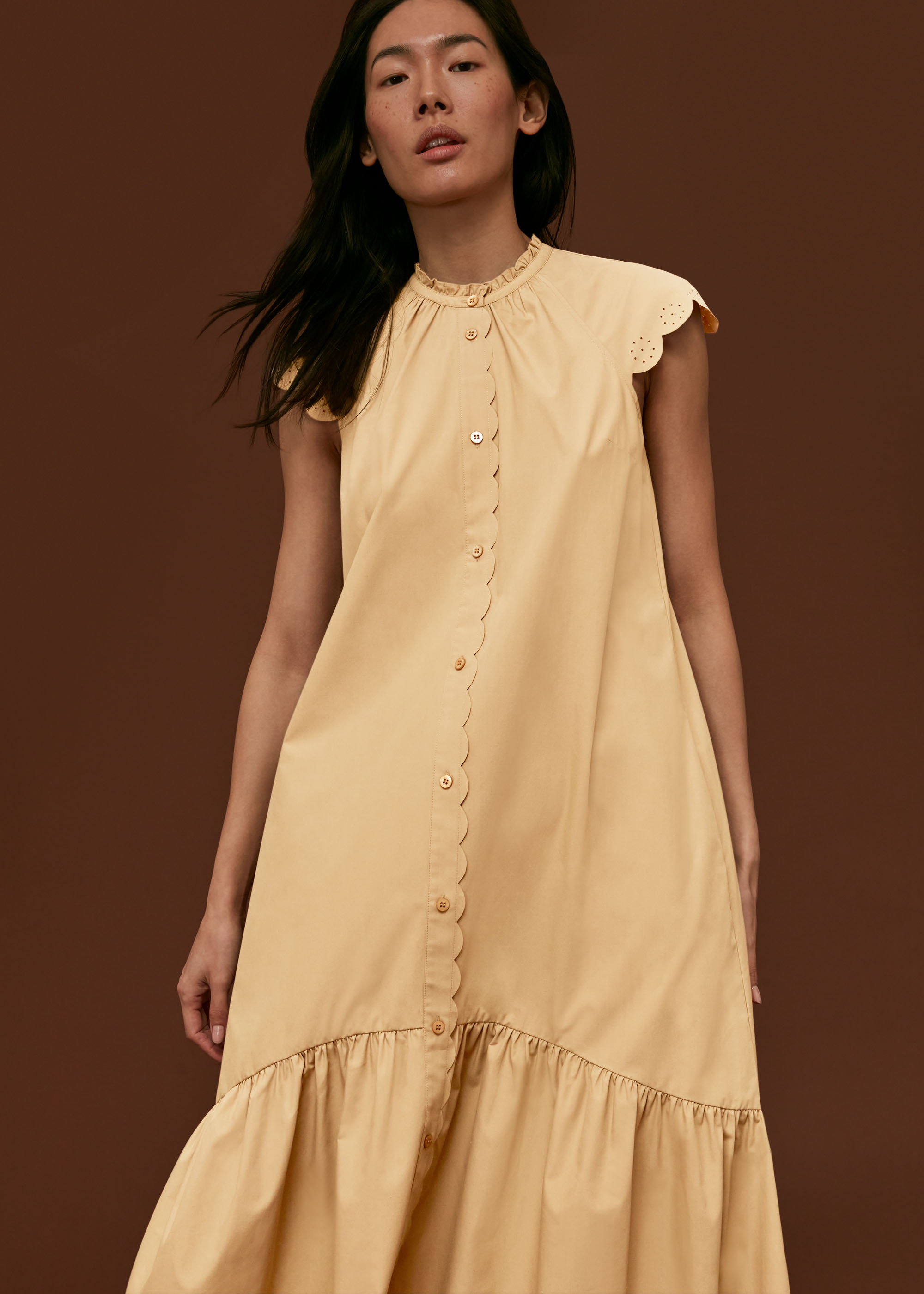 Whistles Women Elsie Broderie Shirt Dress
