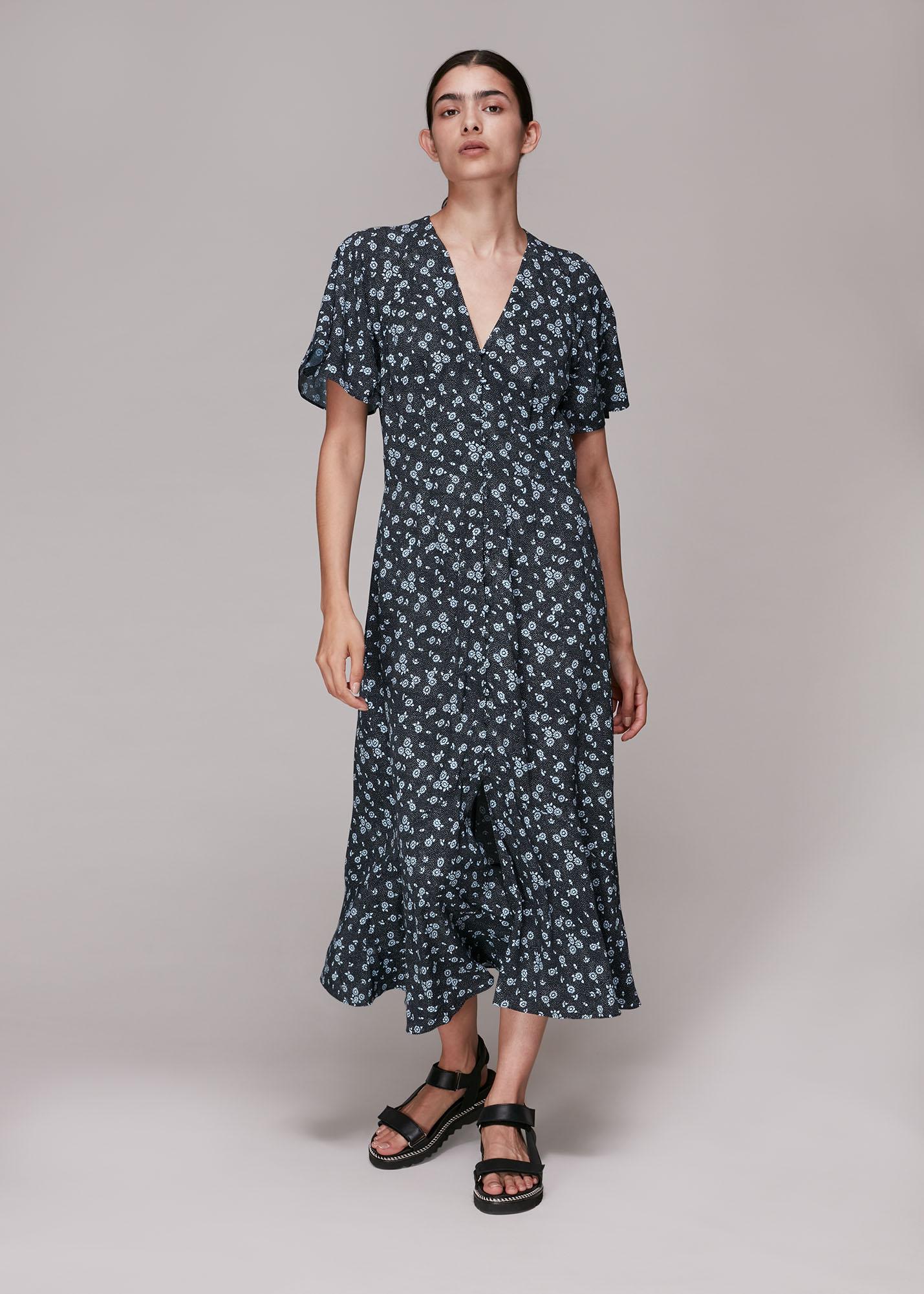 Whistles Women Daisy Spot Print Midi Dress
