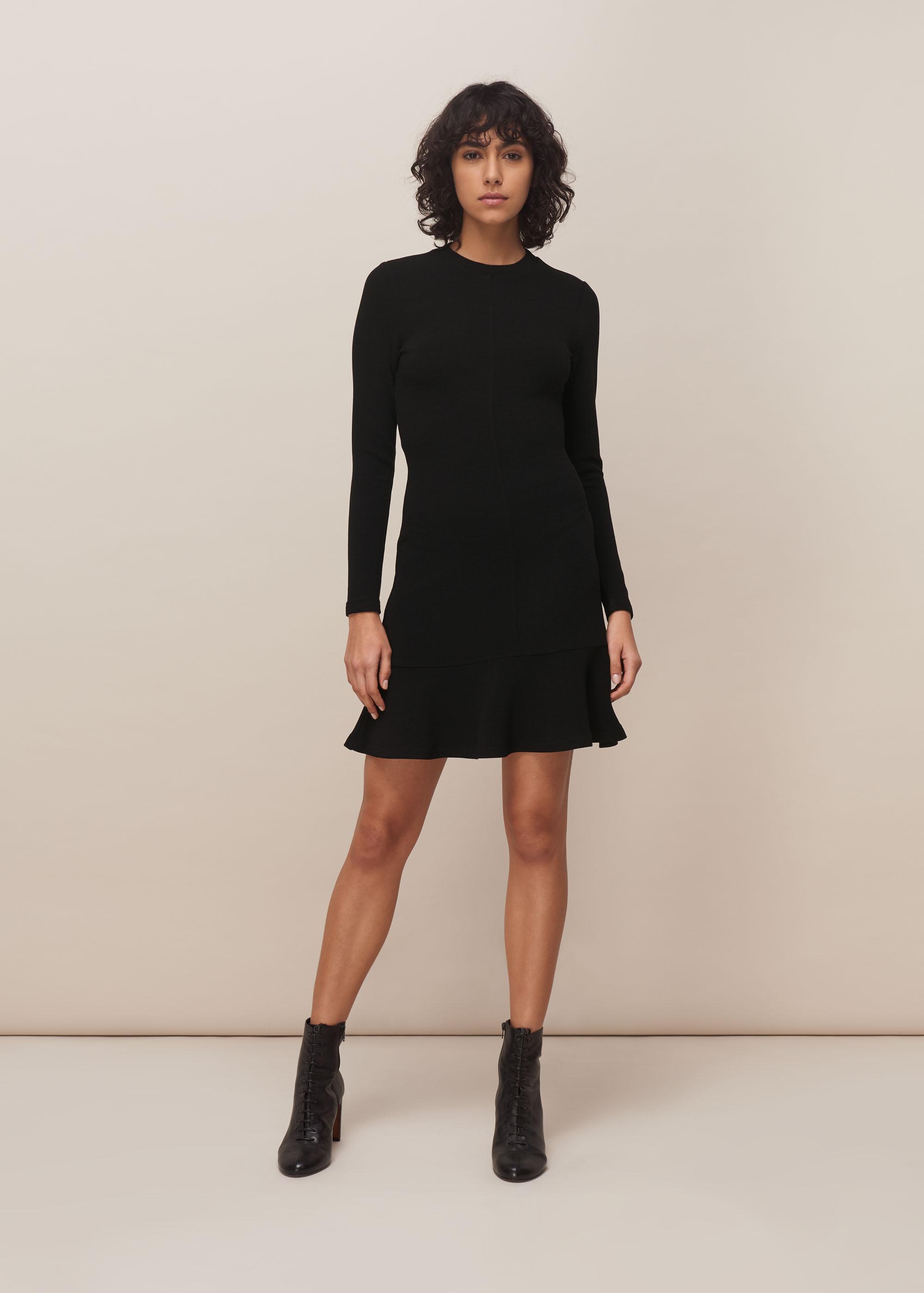 Whistles Women Ottoman Jersey Flippy Dress