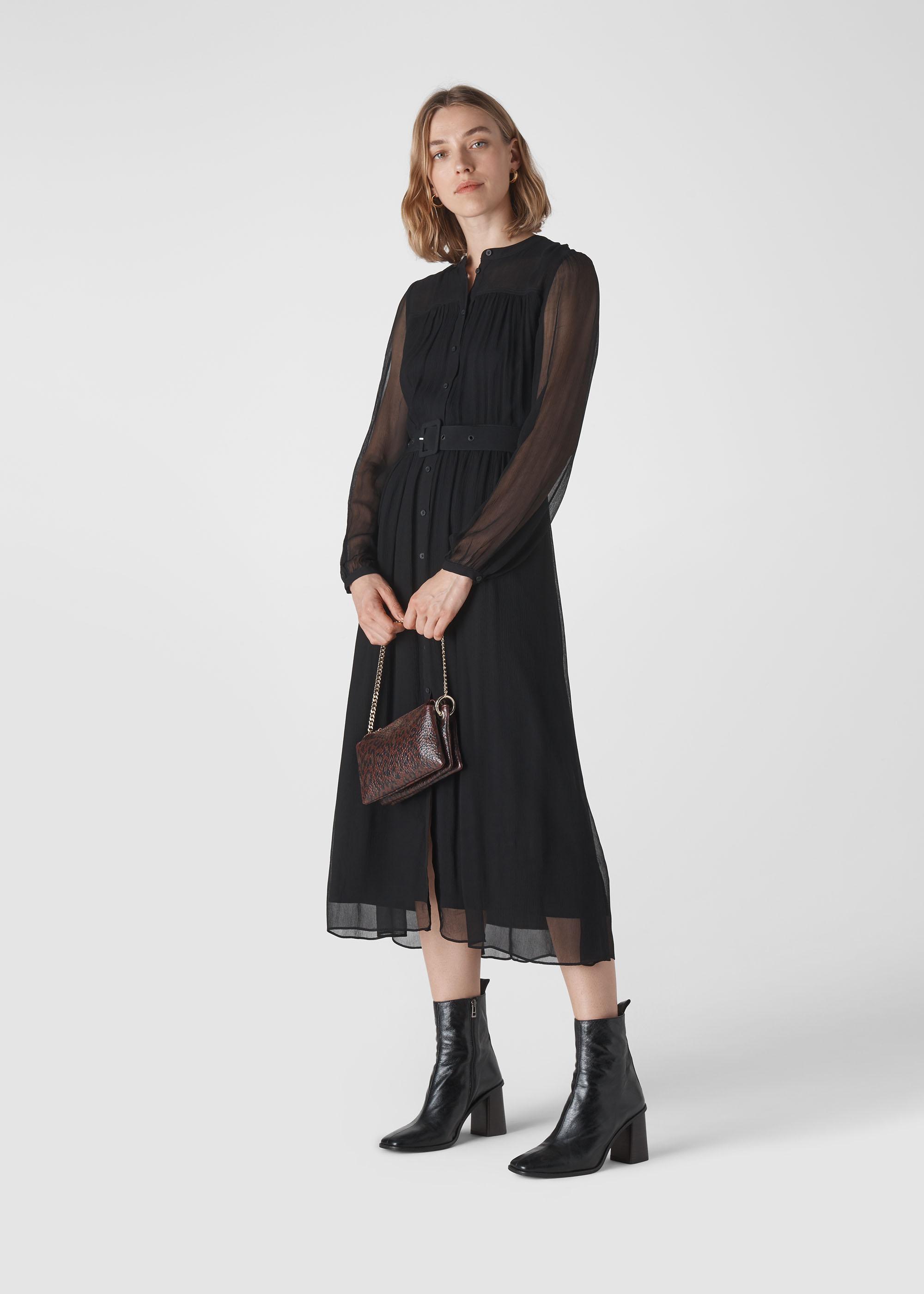 Whistles Women Bethany Belted Midi Dress