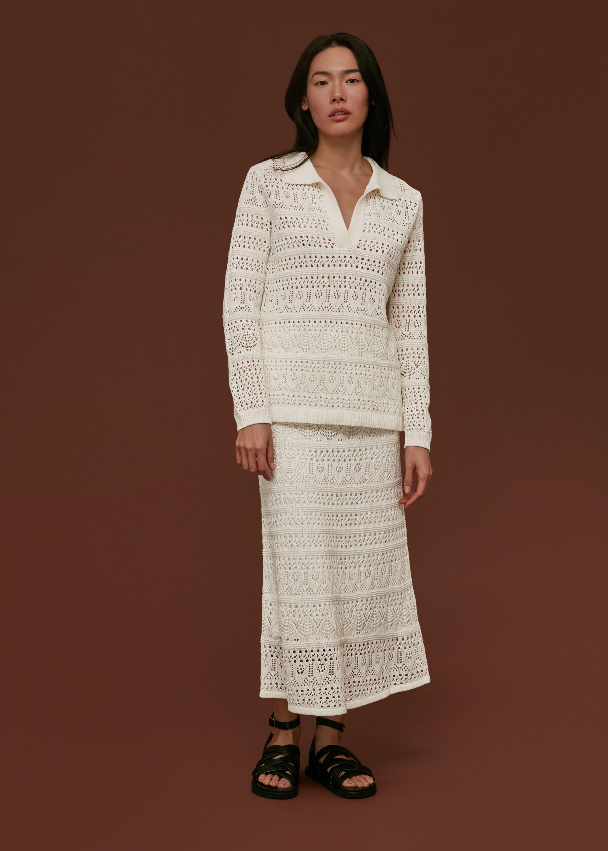 Whistles Women Crochet Midi Skirt