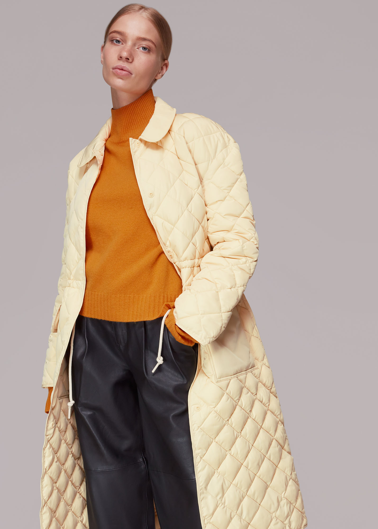 Whistles Women Clelia Quilted Coat