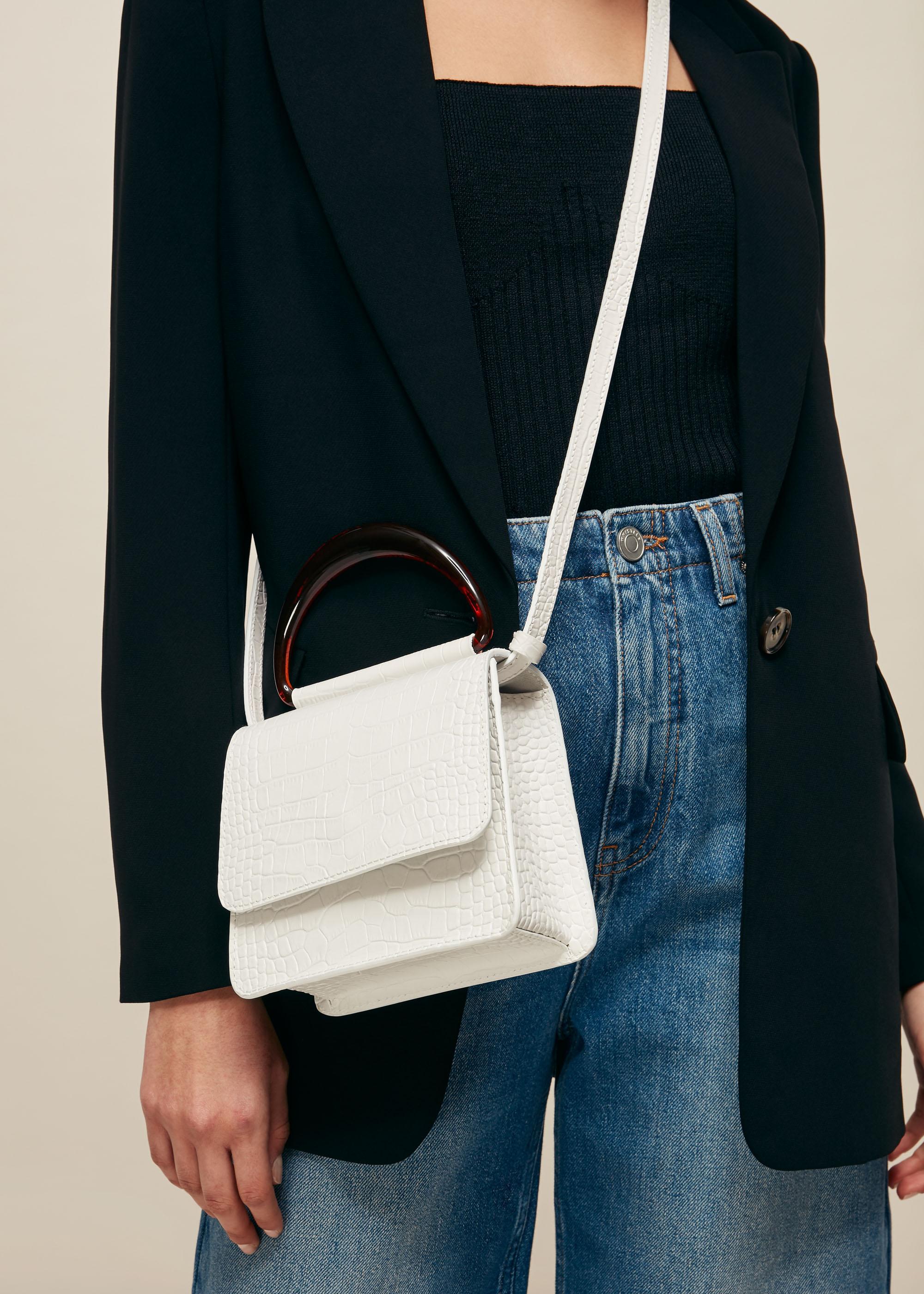 Whistles Women Rosina Mini Resin Handle Bag