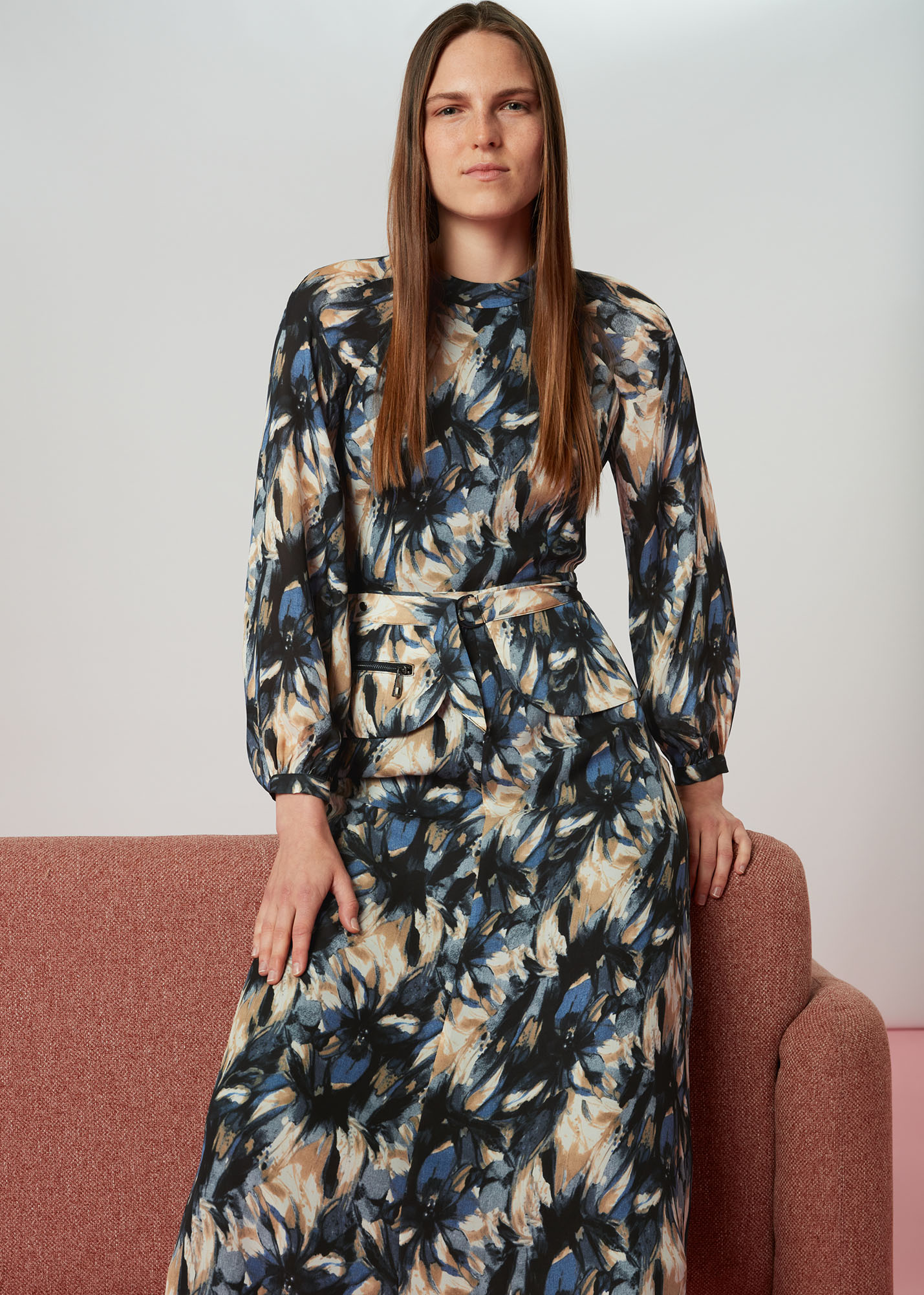 Whistles Women Storm Floral Silk Belted Dress