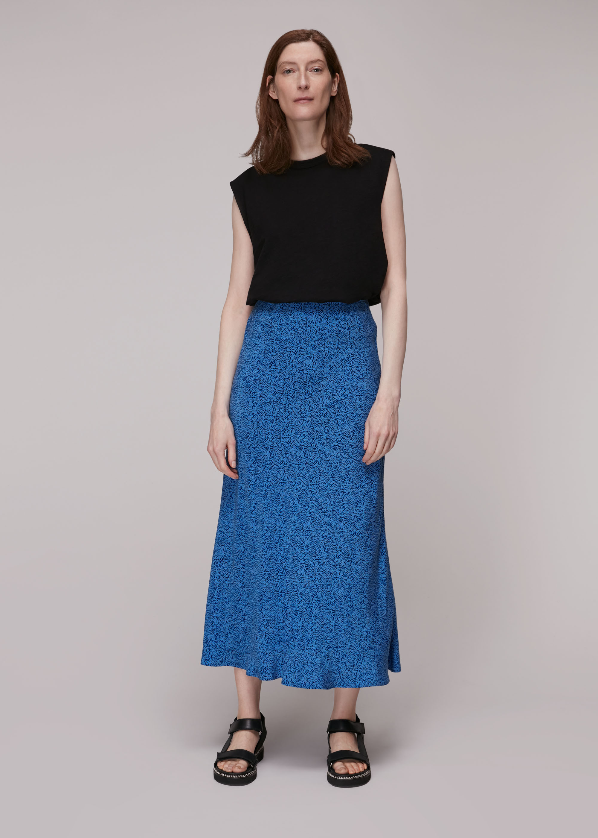 Whistles Women Animal Fleck Print Bias Skirt