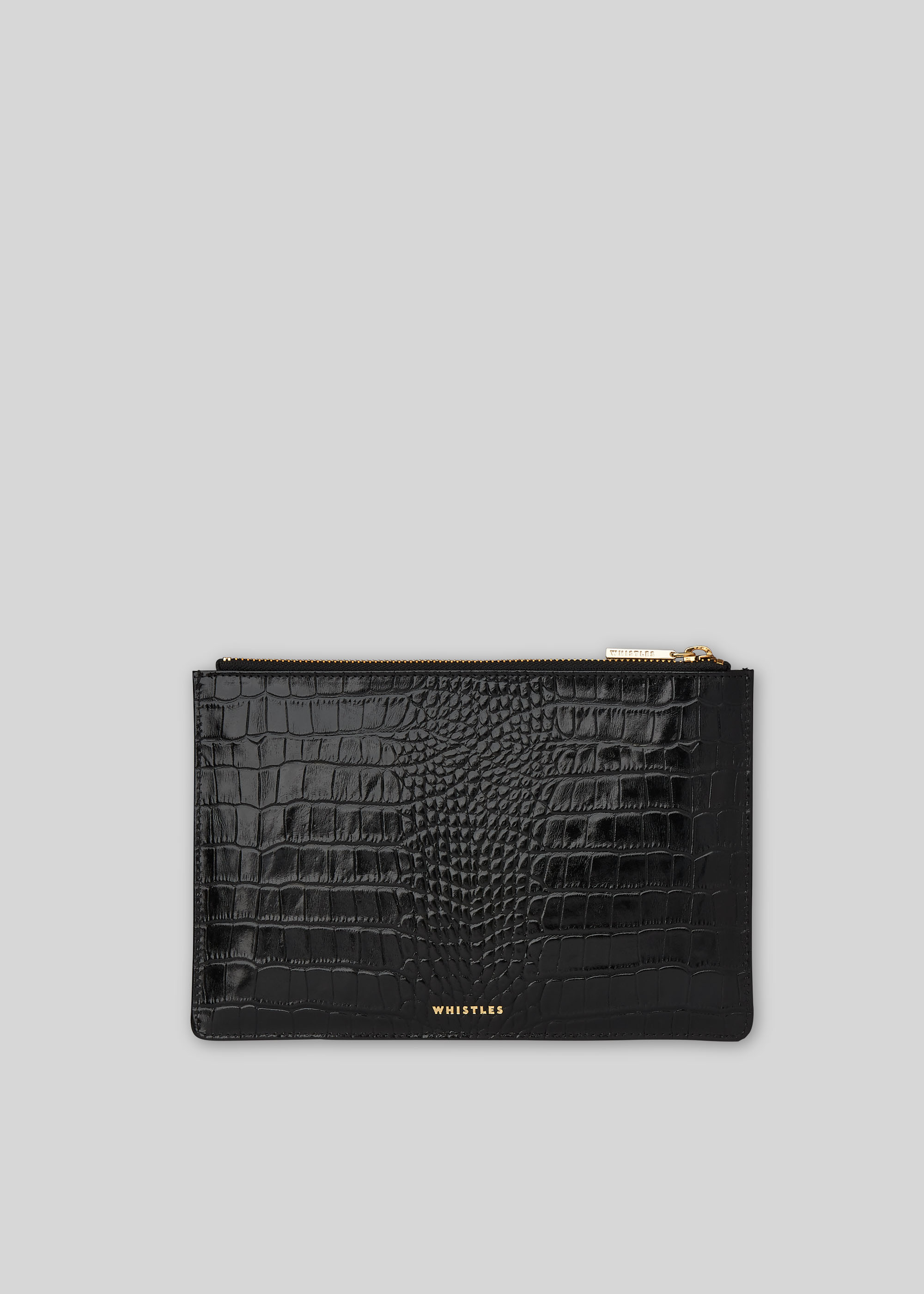 Whistles Women Shiny Croc Small Clutch